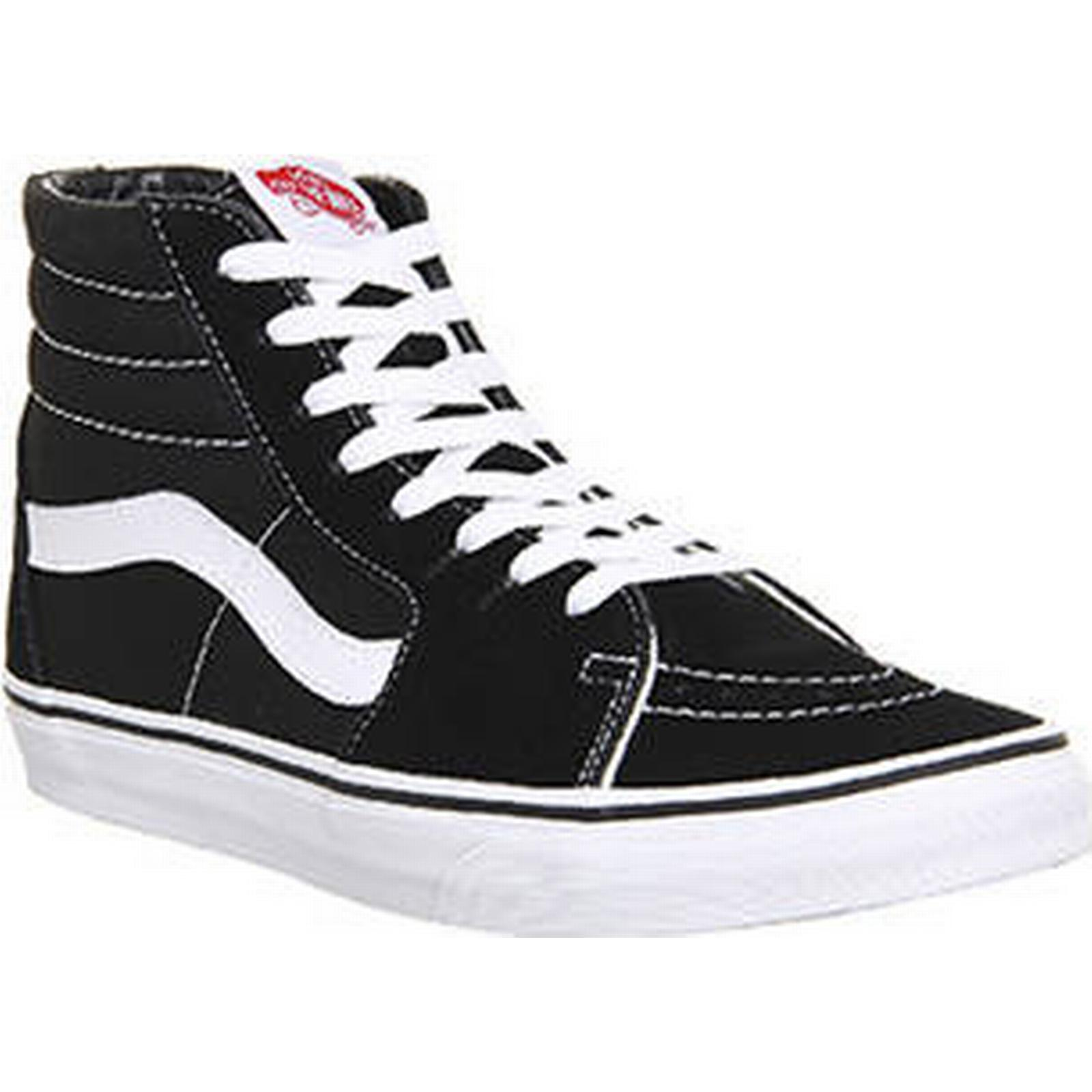 Vans Sk8 Hi BLACK WHITE WHITE BLACK CANVAS ca5cee