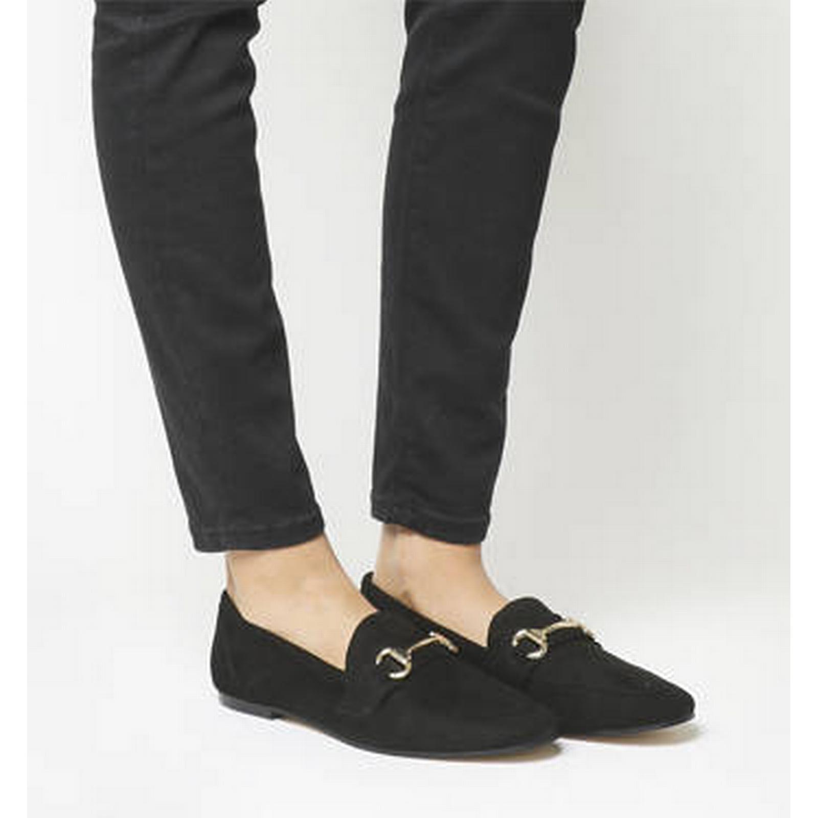 Office Destiny Trim Loafer BLACK BLACK Loafer SUEDE 4ea08c