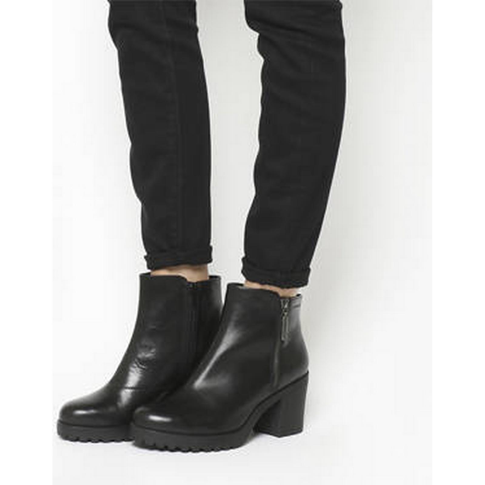 Vagabond Grace Side Zip BLACK boots BLACK Zip LEATHER 2e1a1b