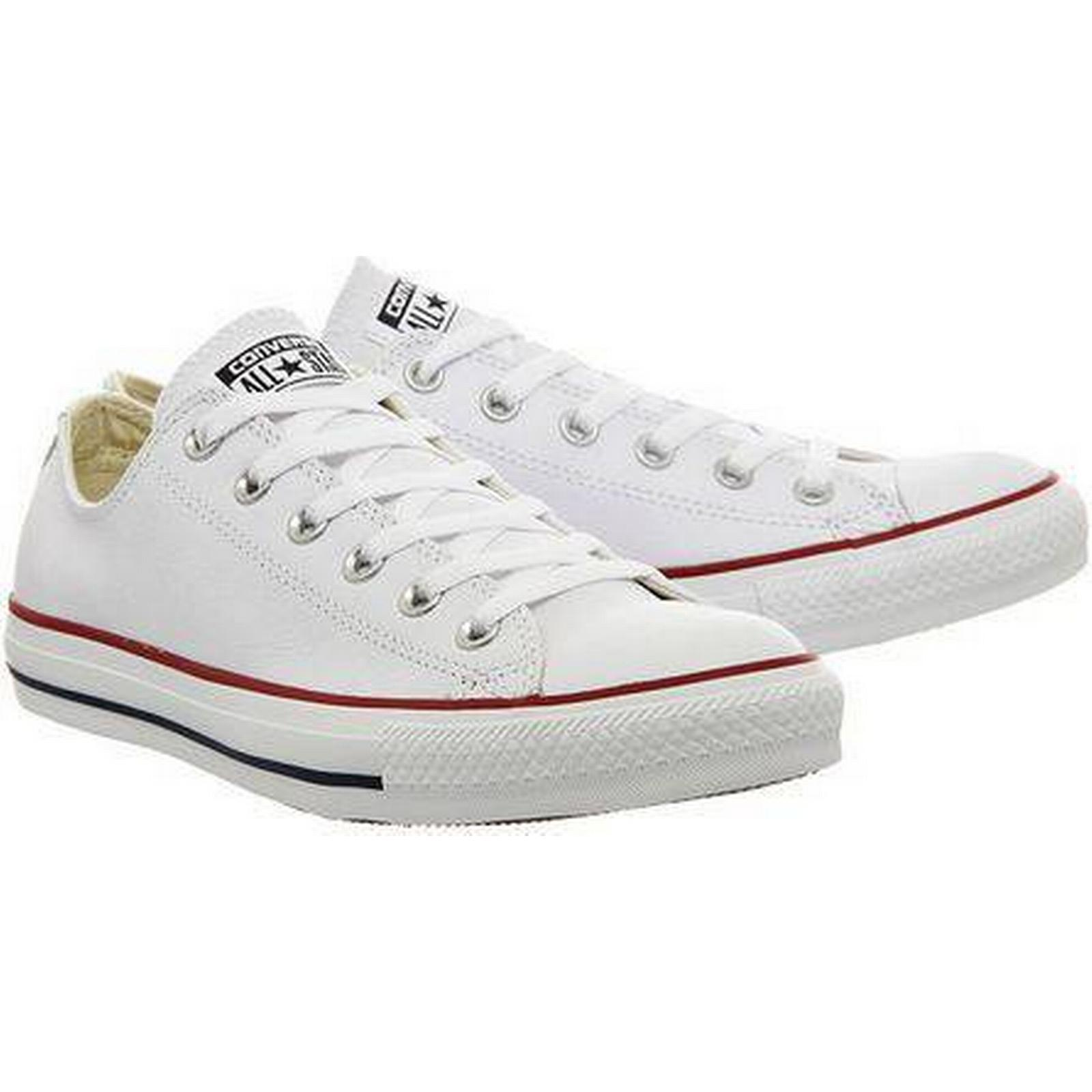 Womens All Star Low Leather Trainers By Converse White Supplied Office 1664fd