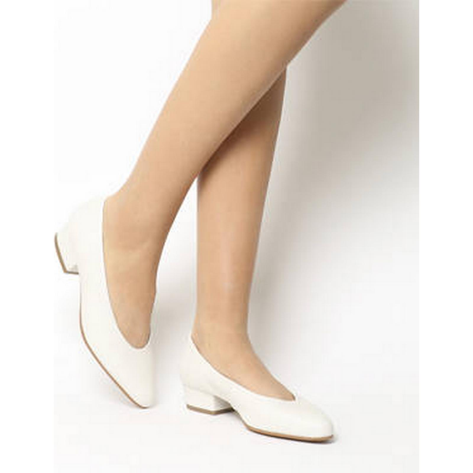 Office My Girl High LEATHER Vamp Block Court WHITE LEATHER High e9271b