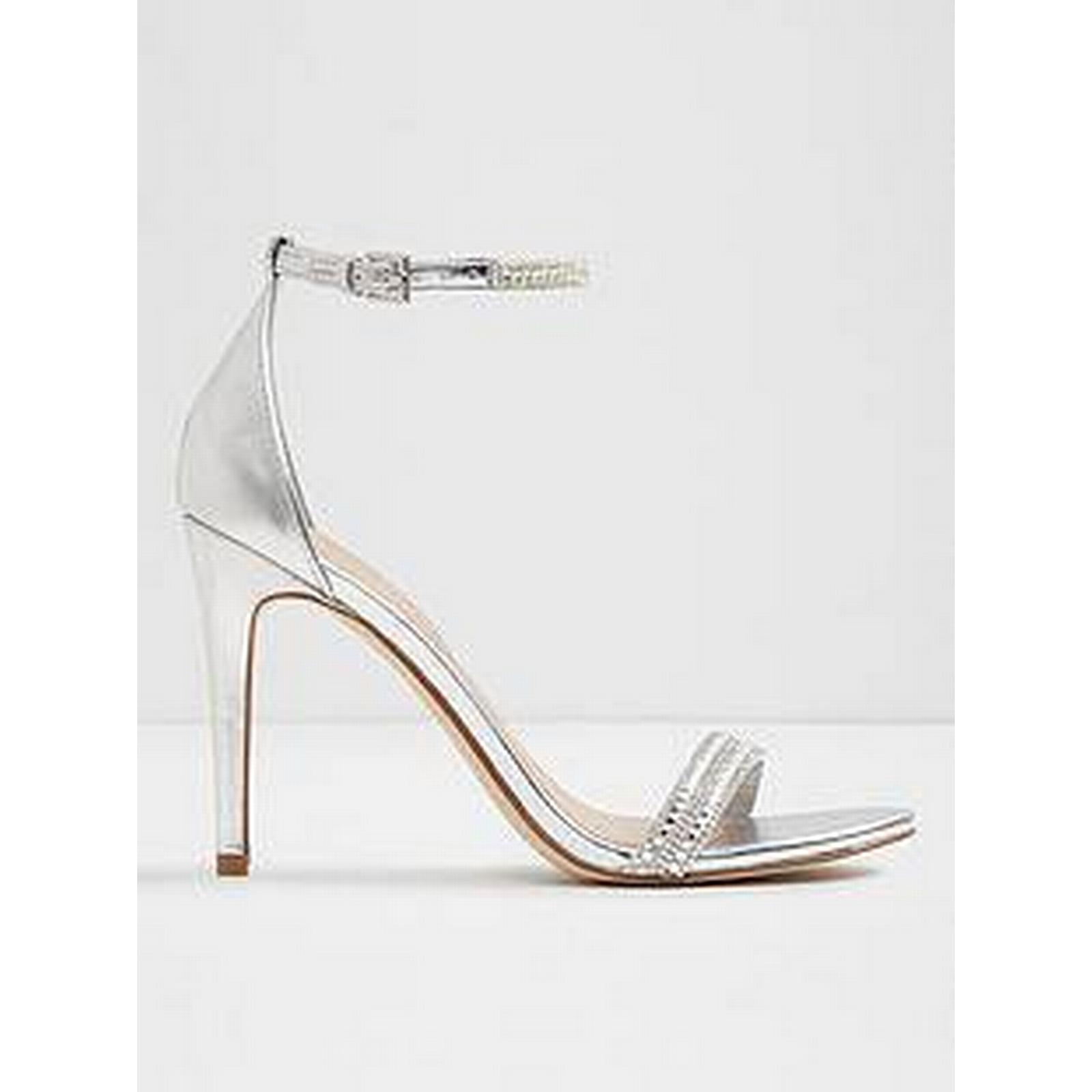 Aldo Ciasa Metallic Silver Strap Heeled Sandal - Silver Metallic 3afc2f