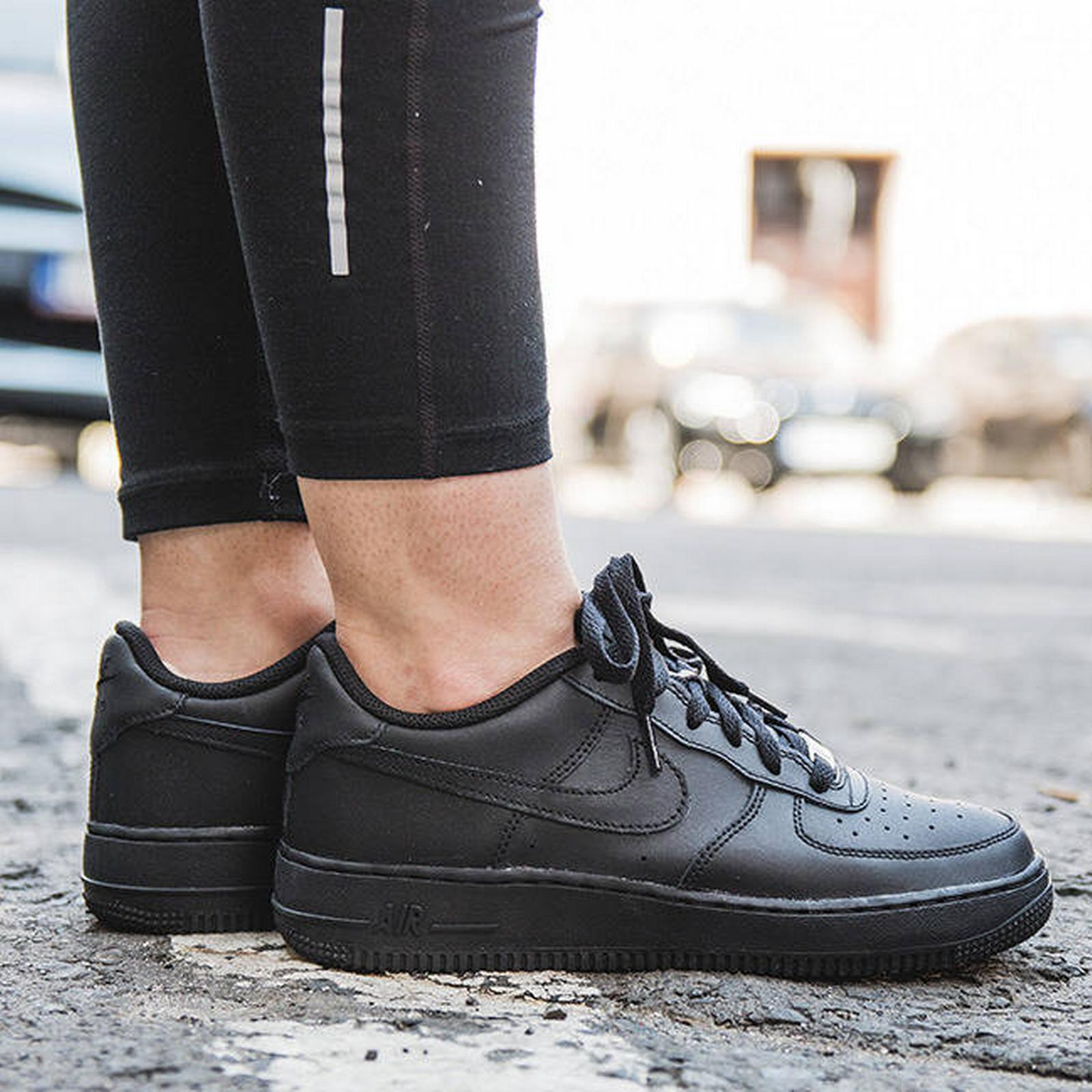 Nike SNEAKER SHOES (GS) NIKE AIR FORCE 1 (GS) SHOES 314192 009 BLACK Size 38,5 f7bc03