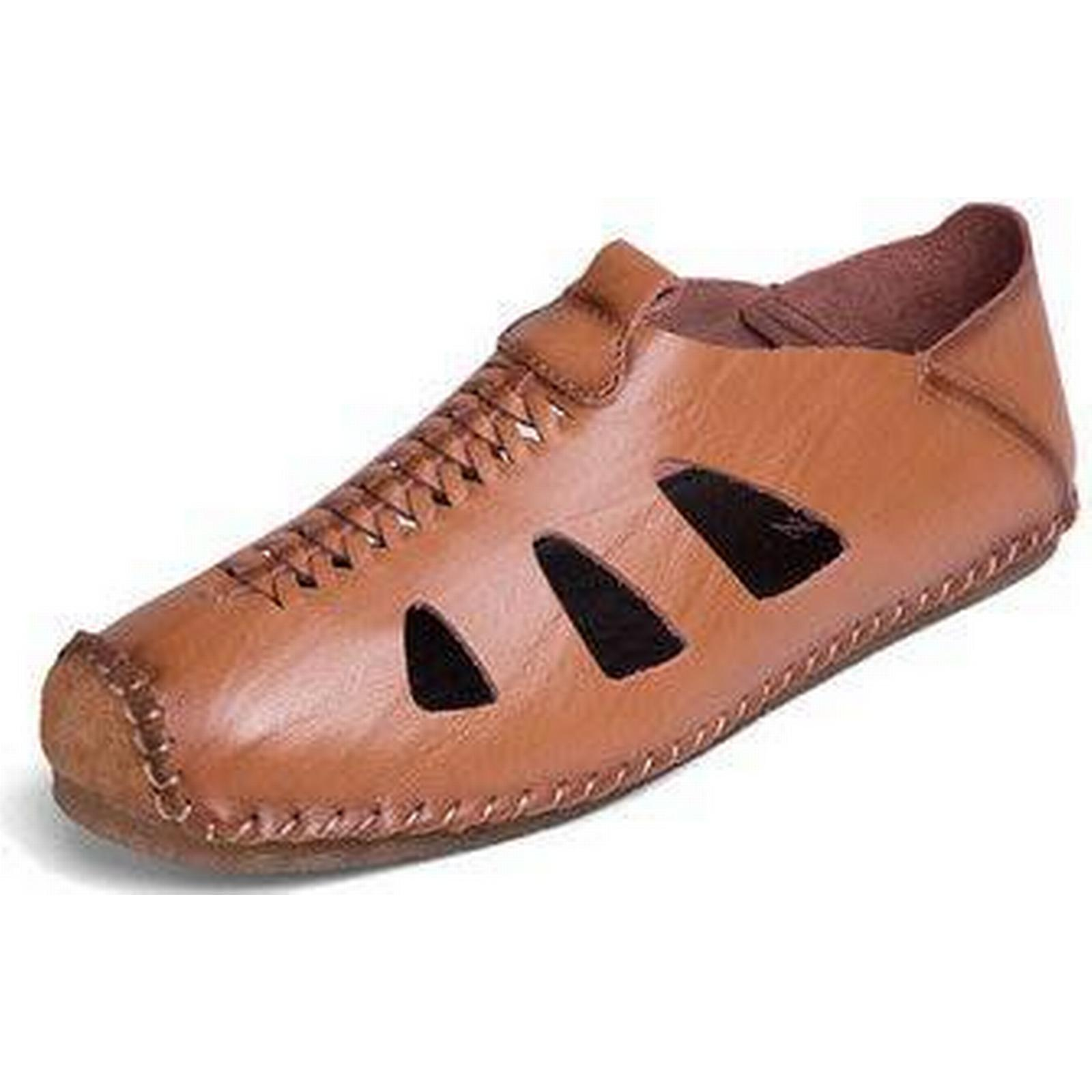 Men Stitching Hole Leather Loafers Loafers Leather 5f952a