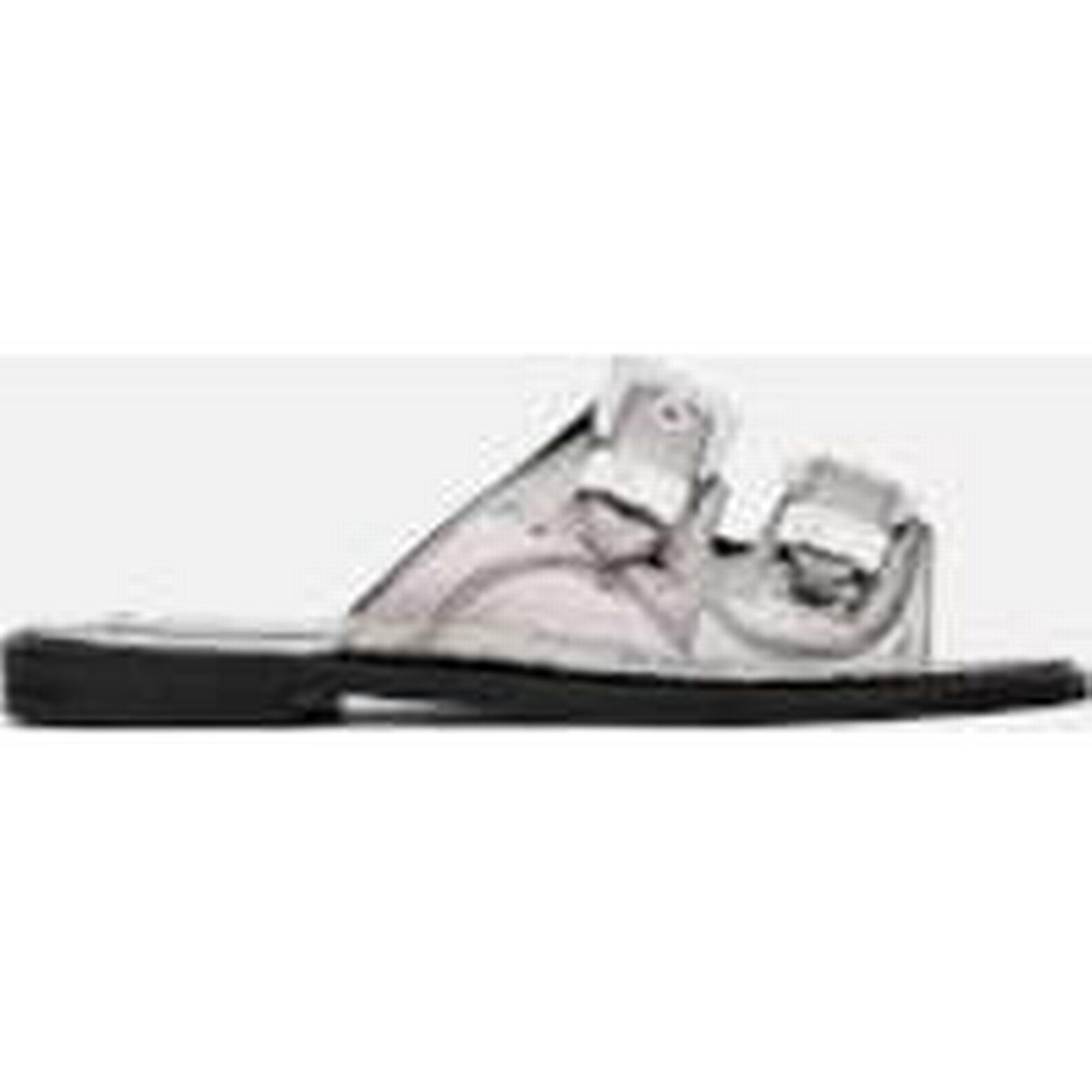 McQ Alexander Slide McQueen Women's Moon Buckle Slide Alexander Sandals - Silver - UK 4 - Silver 23b53e