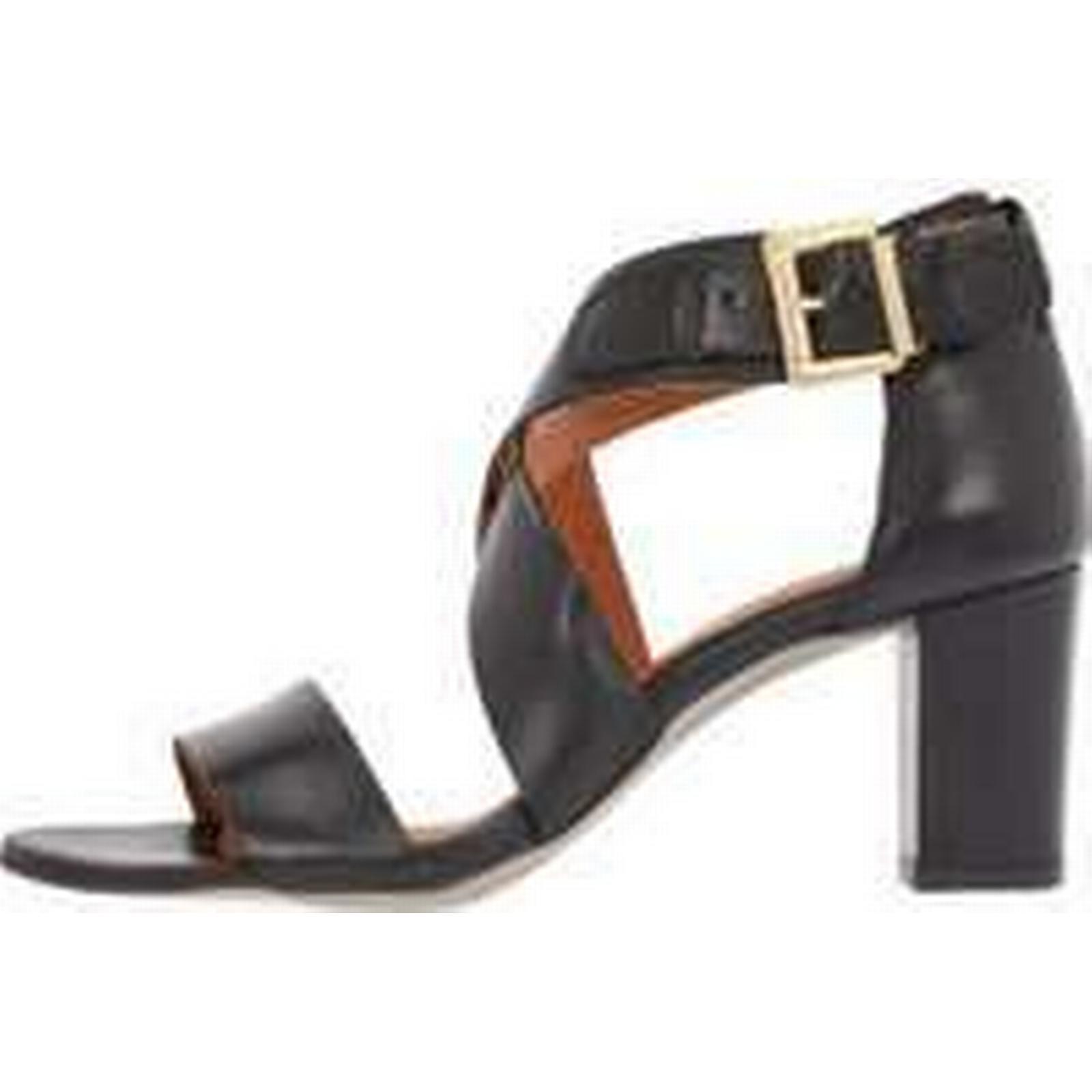 BIANCO Cross Leather Cross BIANCO Sandals Women Black (37) 72bd7f