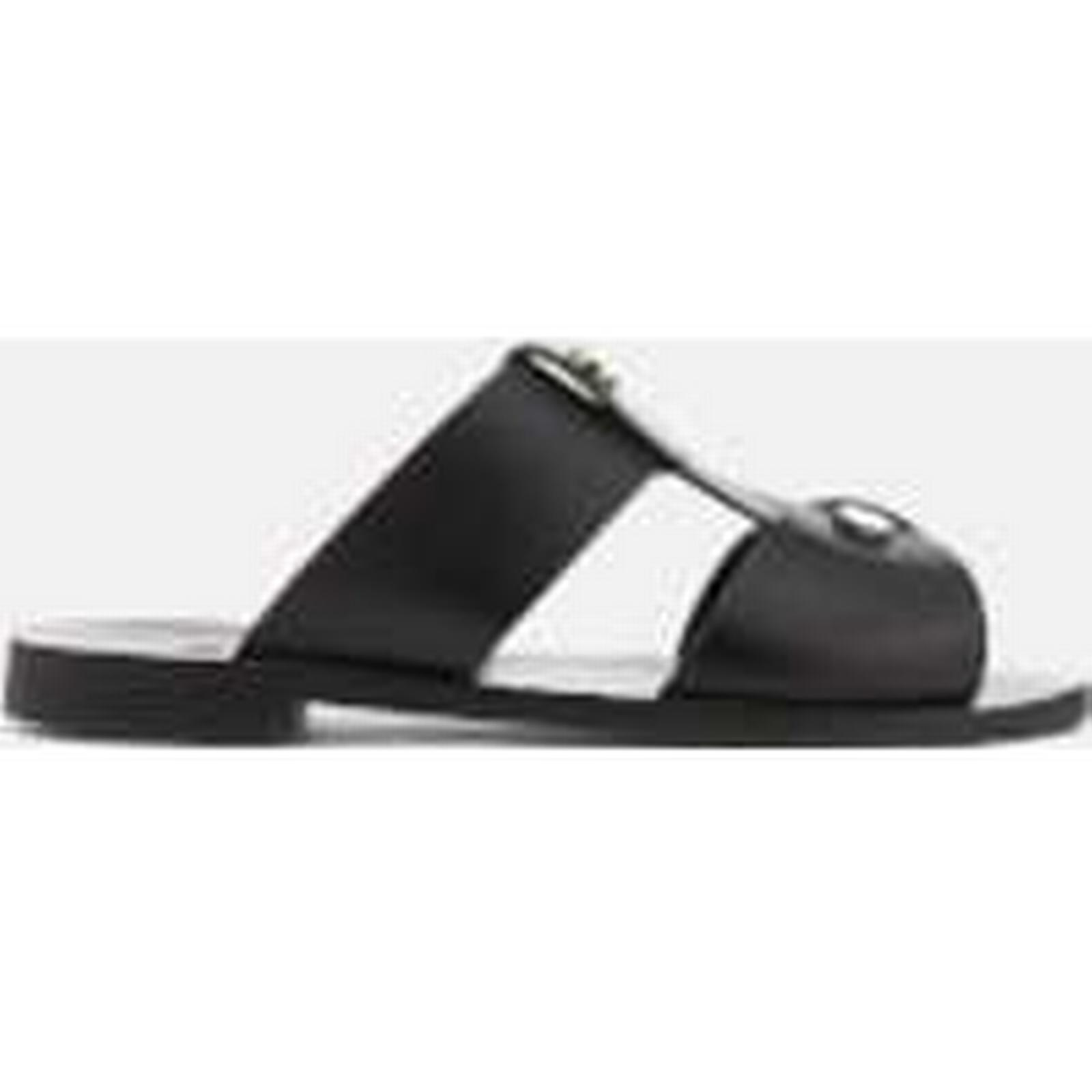 Hudson Double London Women's Aponi Leather Double Hudson Strap Sandals - Black a3e6e0