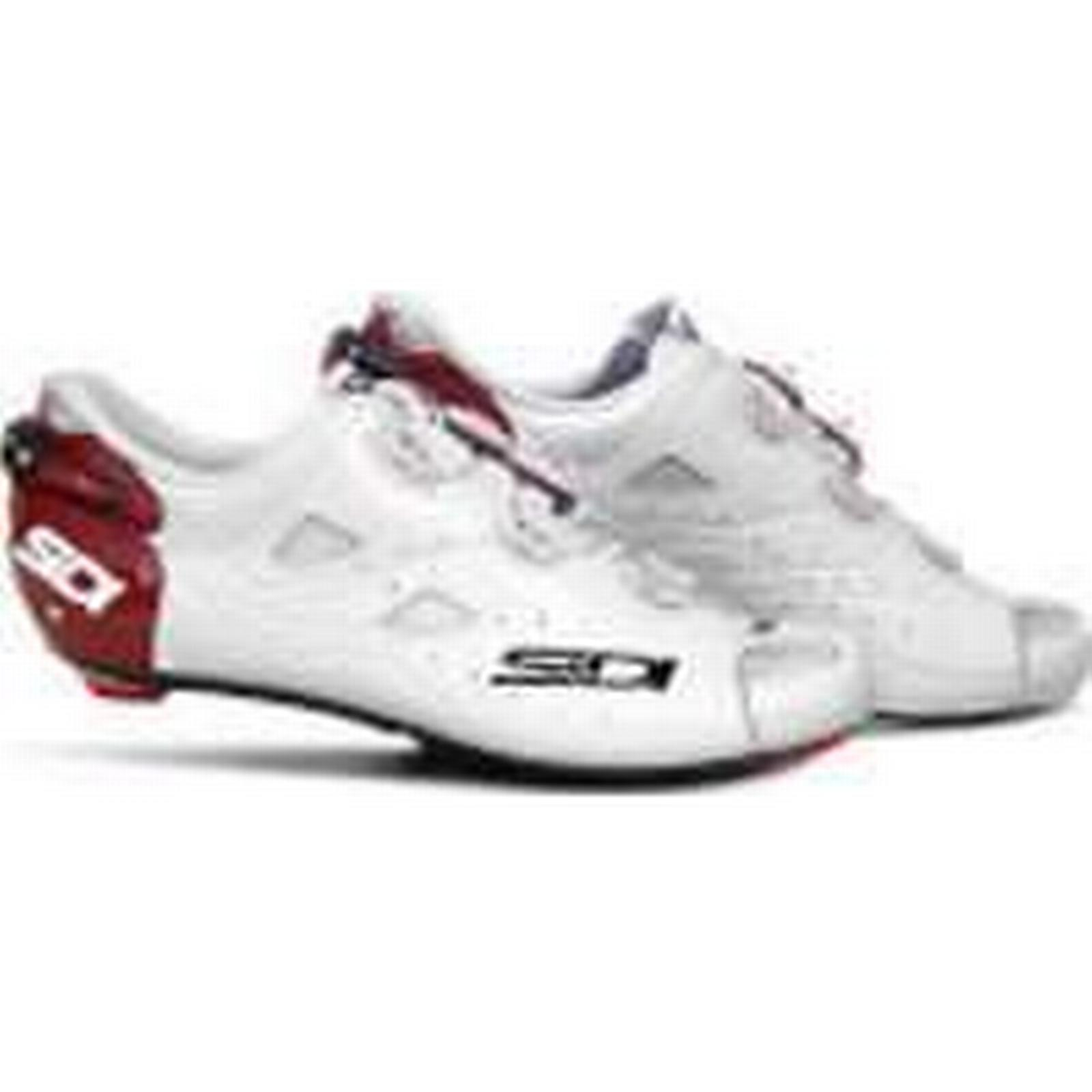 Sidi Shot Carbon Limited Edition Cycling White/Dark Shoes - Katusha - White/Dark Cycling Red - EU 44.5 - White/Red 0c9284