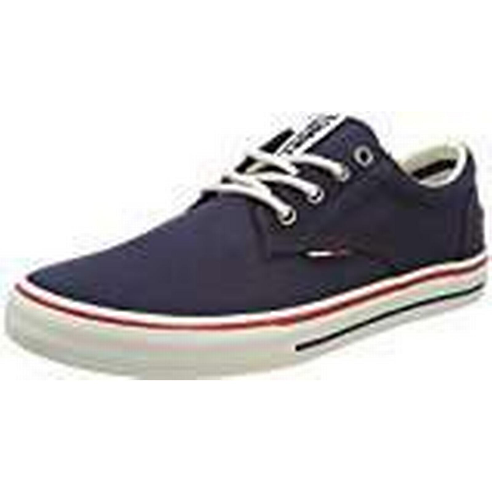 Tommy Tommy Jeans Hilfiger Denim Men's Tommy Tommy Jeans Textile Low-Top Sneakers, Blue (Ink 006), 10 UK (44 EU) 1e0356