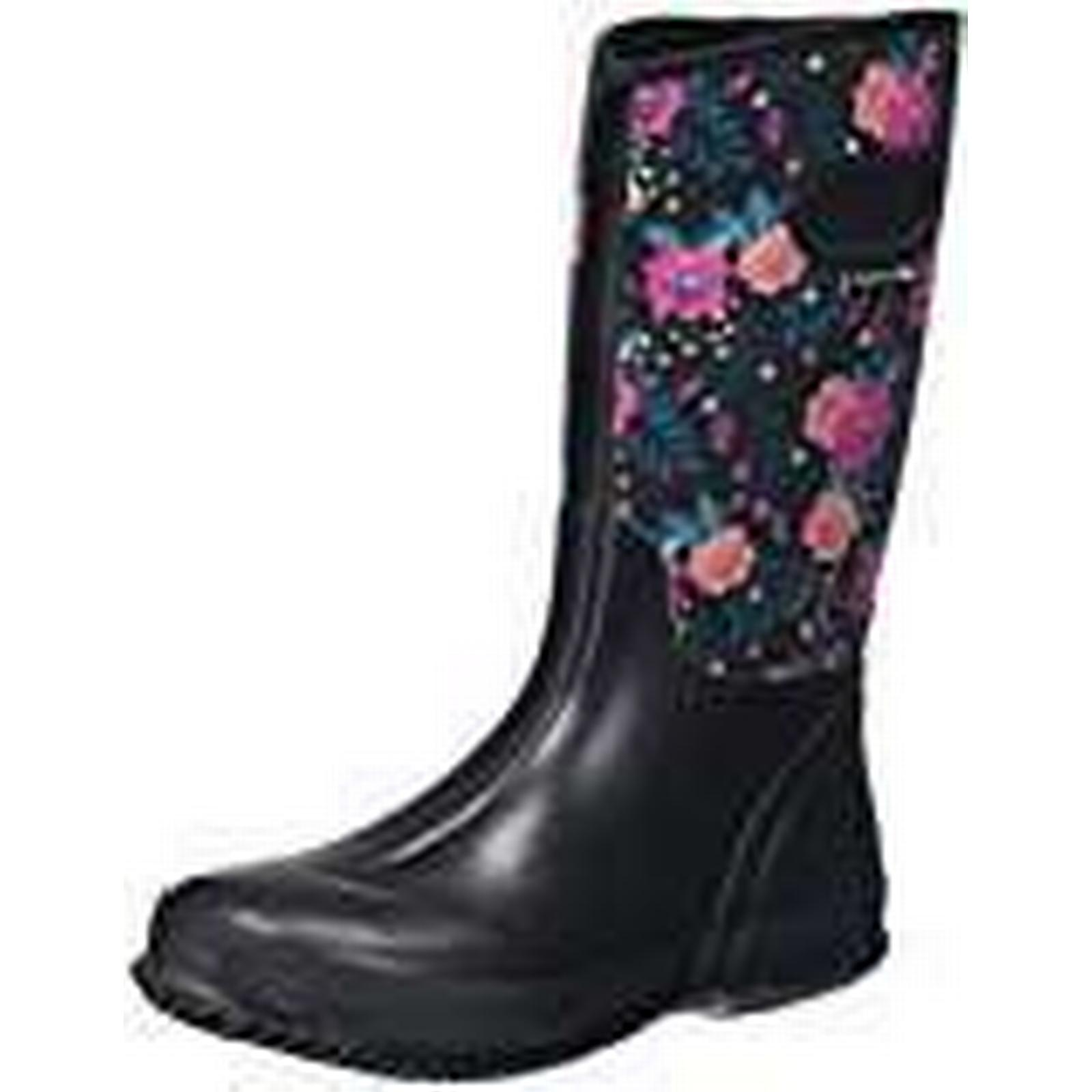 Trespass 41, Geraldine, Bold Floral Print, 41, Trespass Waterproof Wellington Boots for Women, UK Size 8, Black 8f5c78