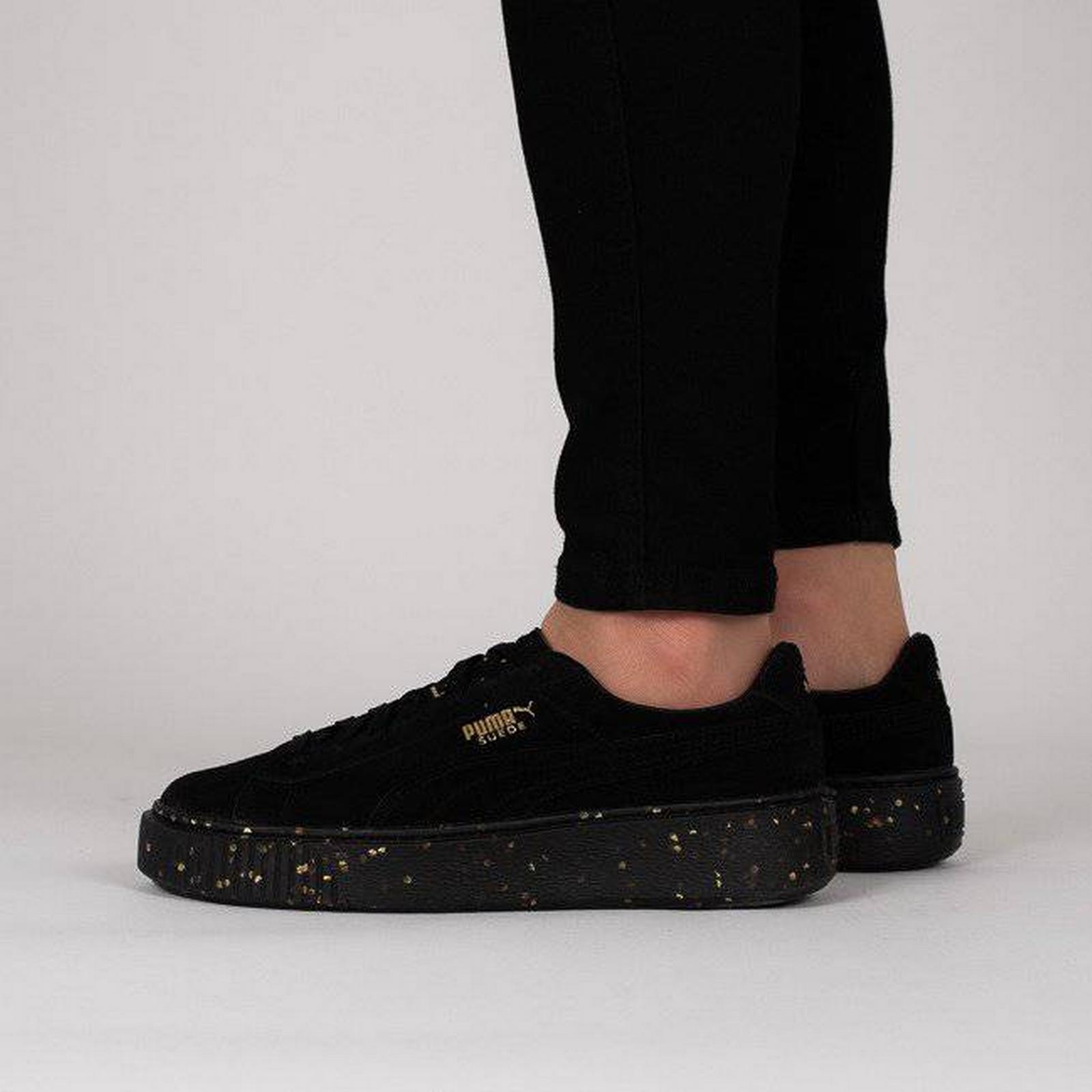 Puma Women's Shoes sneakers 365621 Puma Suede Platform Celebrate 365621 sneakers 01 BLACK Size 40,5 4c5067