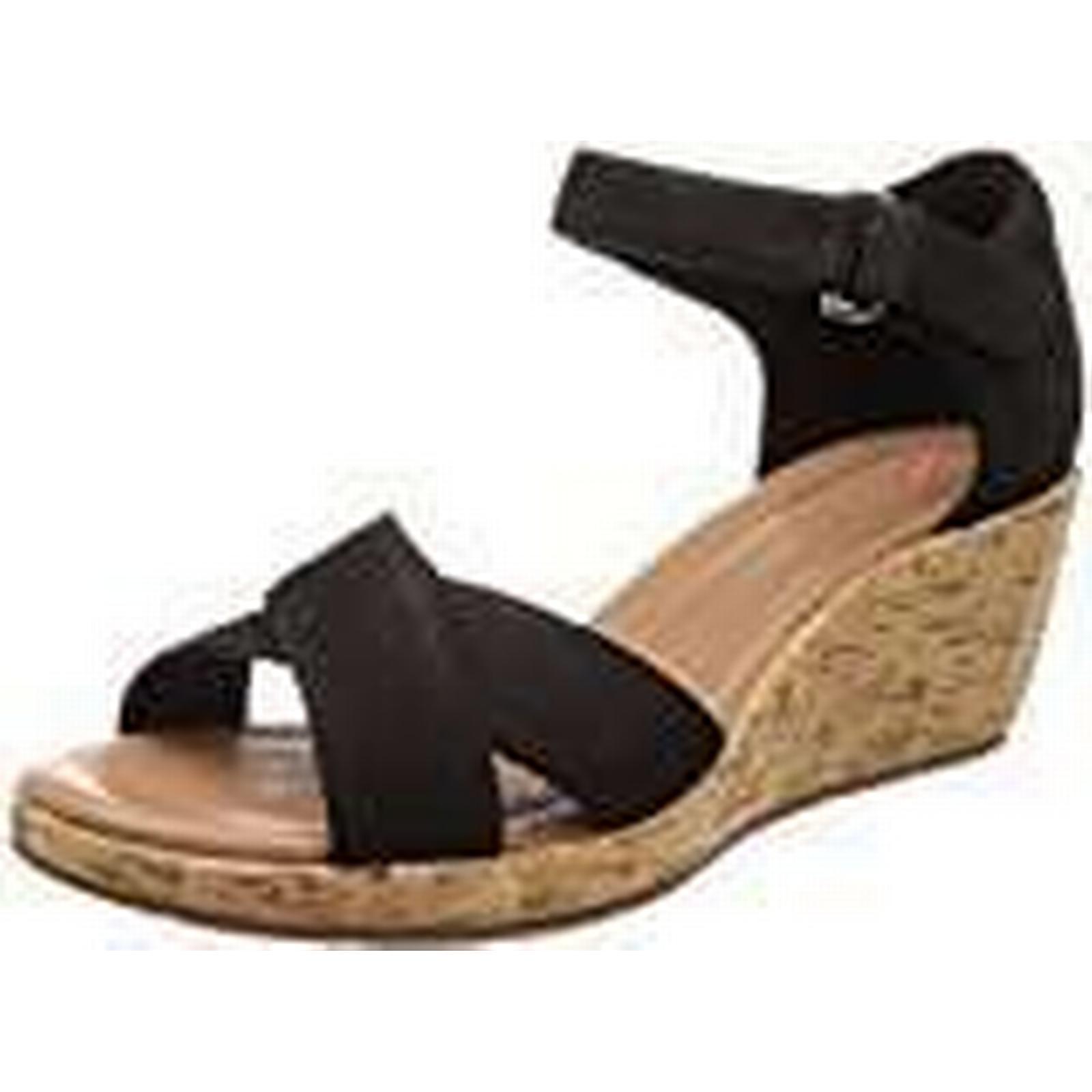Clarks Women''s Un Sandals, Plaza Cross Ankle Strap Sandals, Un (Black Nubuck), 3.5 UK 0de2b9