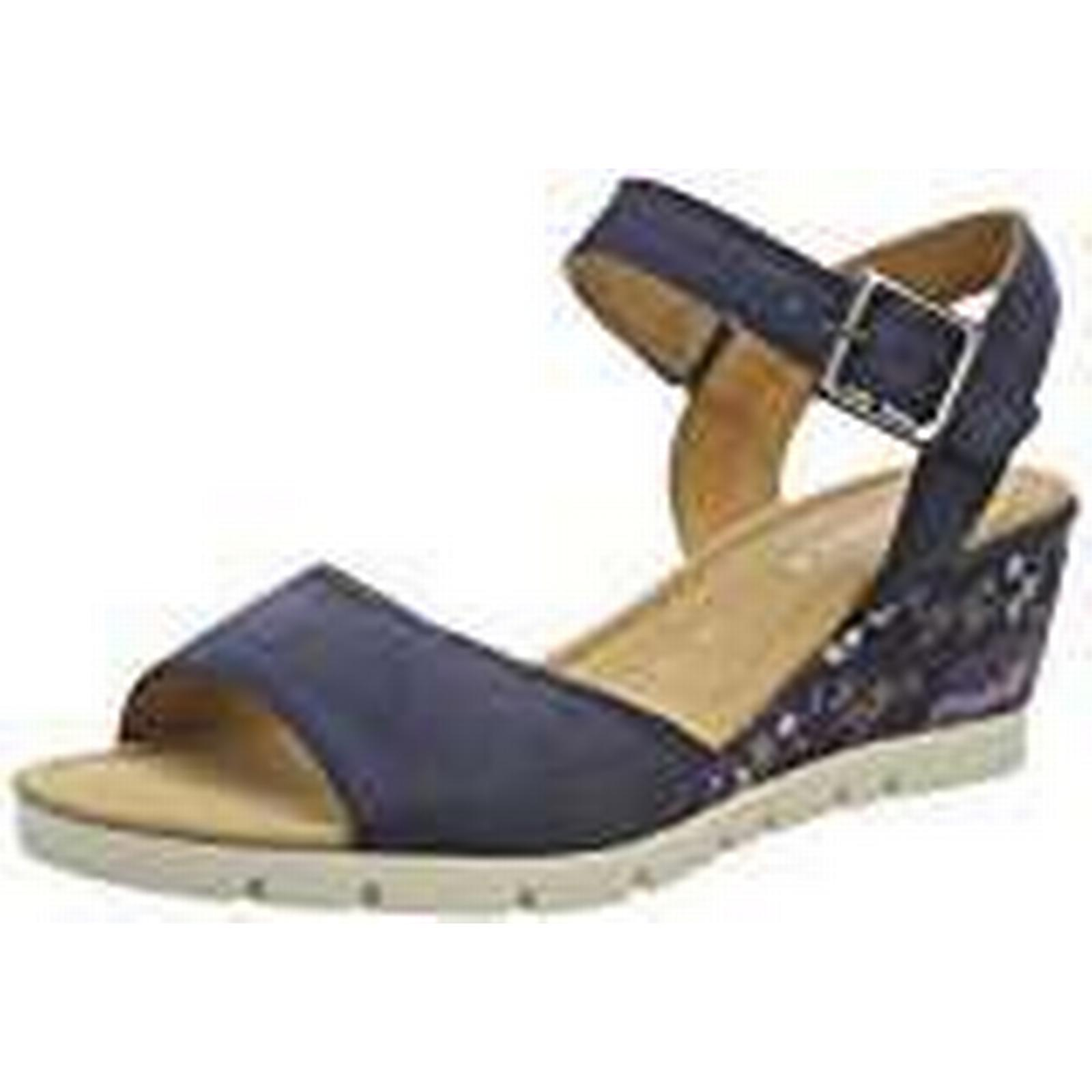 Gabor Shoes Women''s Comfort Blue Sport Ankle Strap Sandals, Blue Comfort (Navy Flower), 6 UK 6 UK 622233