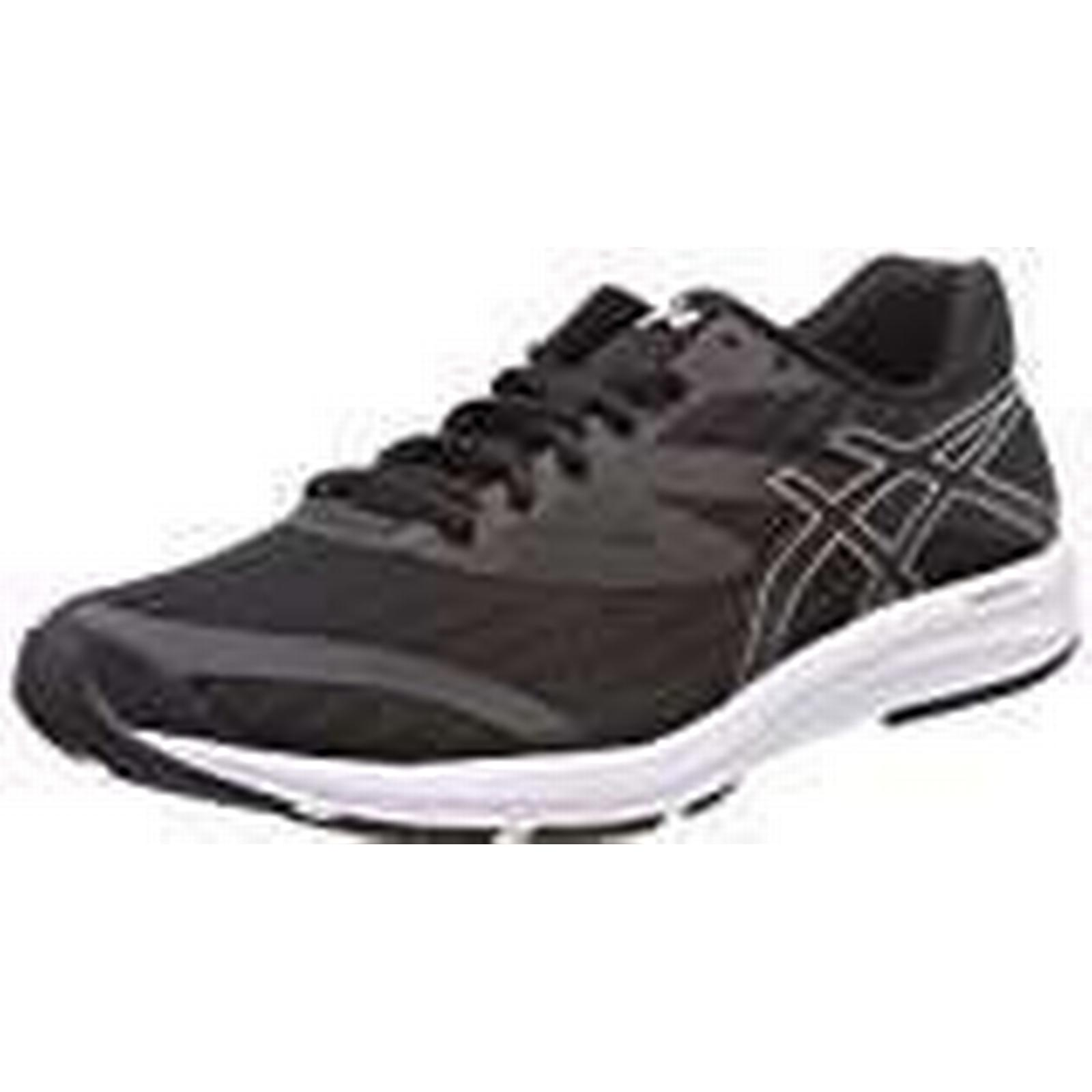Asics Men's Amplica Competition Running UK Shoes, Black/White 9090, 8 UK Running af7462