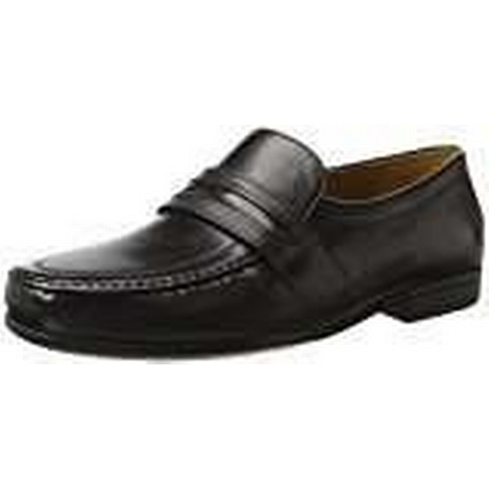 Clarks Men's 9.5 Claude Aston Loafers, (Black Leather-), 9.5 Men's UK 9.5 UK d464ec