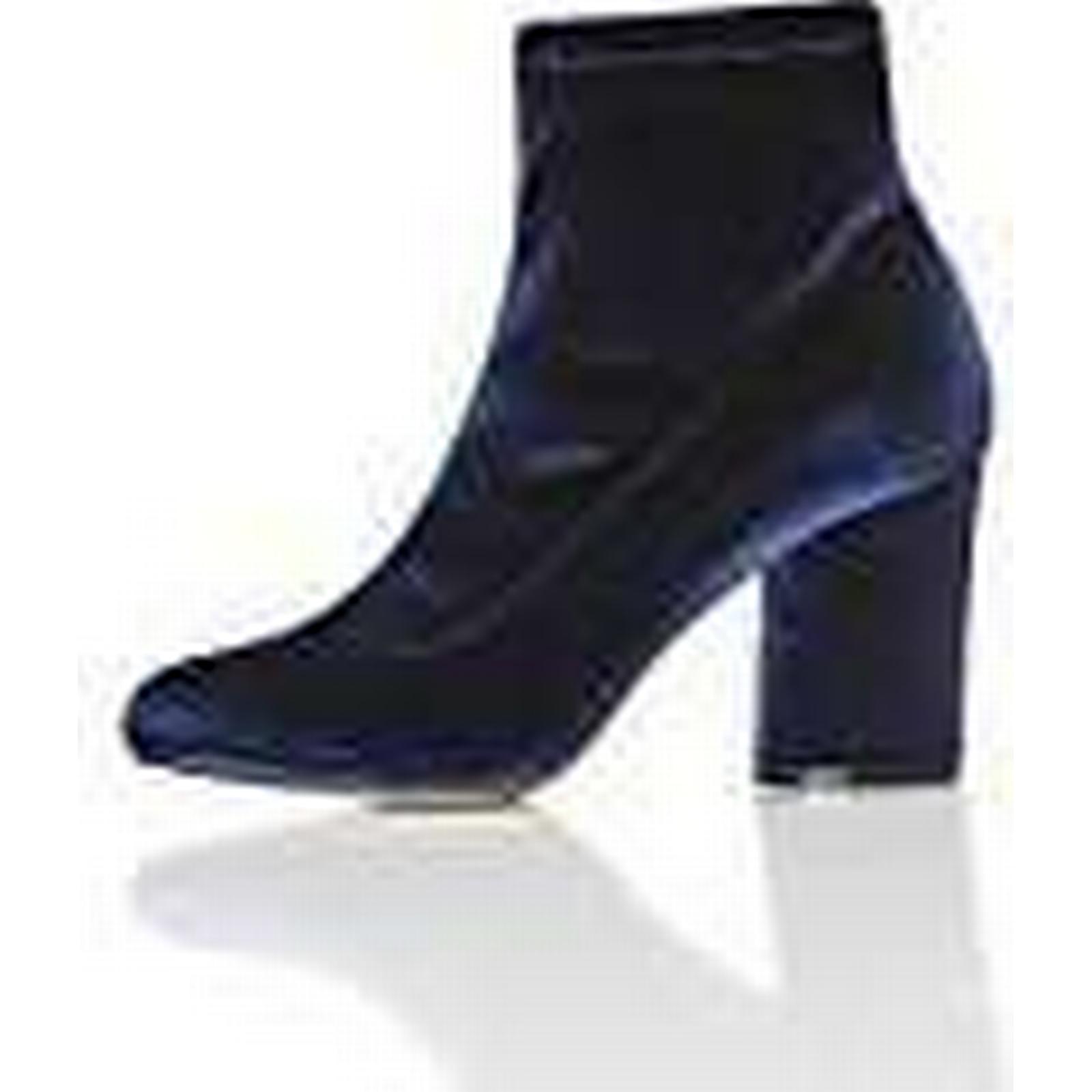 FIND Women's Velvet UK Stretch Ankle Boots Blau (Navy) 7 UK Velvet (40 EU) 4c5f1f