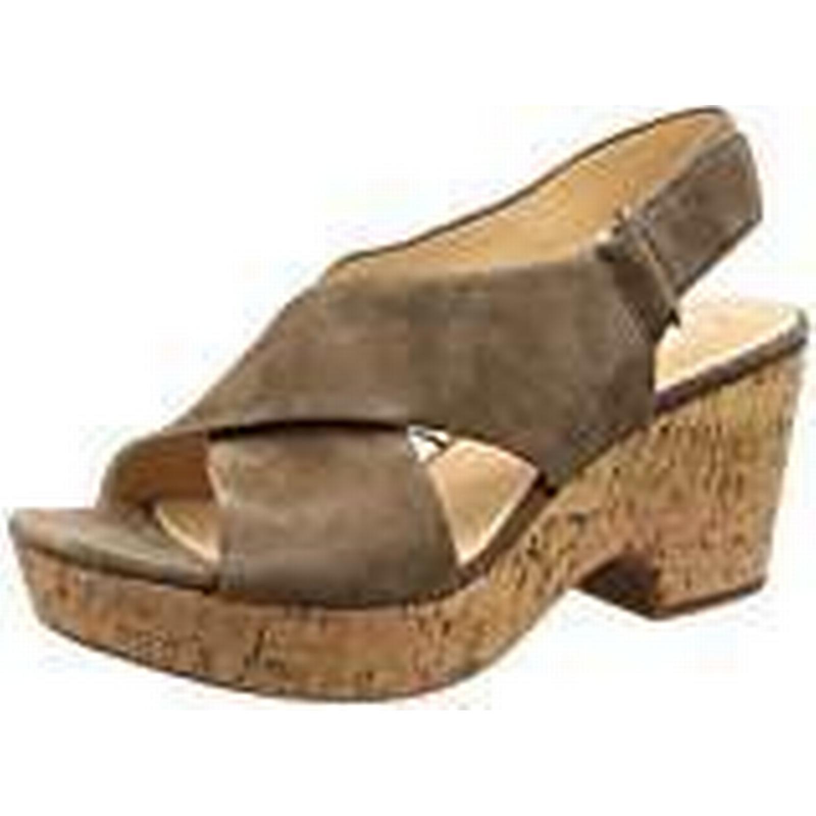 Clarks Women''s Maritsa Lara (Olive Ankle Strap Sandals, Green (Olive Lara Suede-), 4 UK 5f0e60