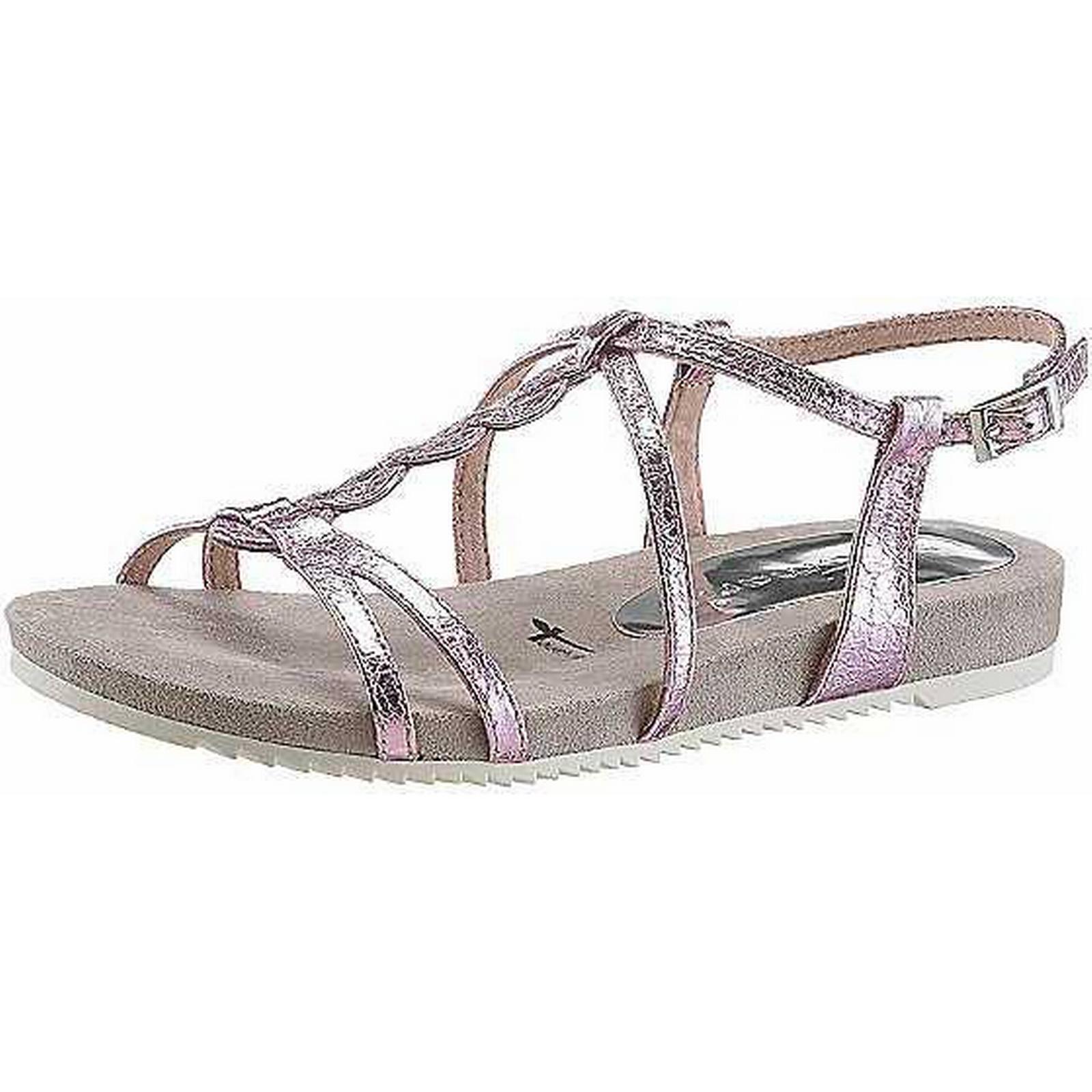 sandales métalliques à lanières par air tamaris métalliques sandales hommes / femmes tamaris:: entretien 707080