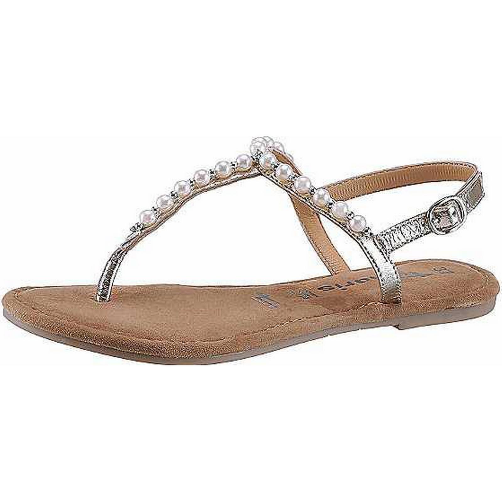 Tamaris Tamaris:Gentleman/Lady: Embellished Toe-Post Sandals by Tamaris:Gentleman/Lady: Tamaris Have good goods 2de4fd