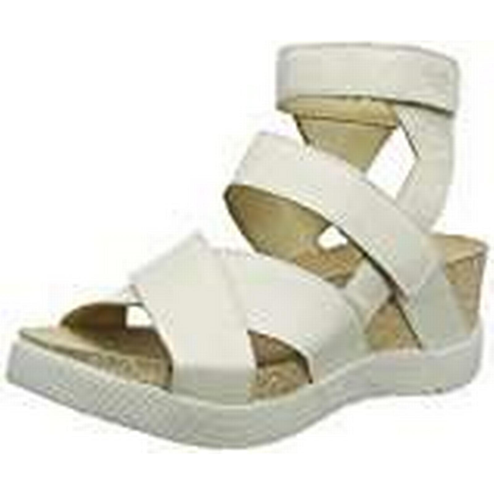Fly London Women's 7 WEGE669FLY Gladiator Sandals, Off-White (Offwhite 010), 7 Women's (40 EU) 8021f6