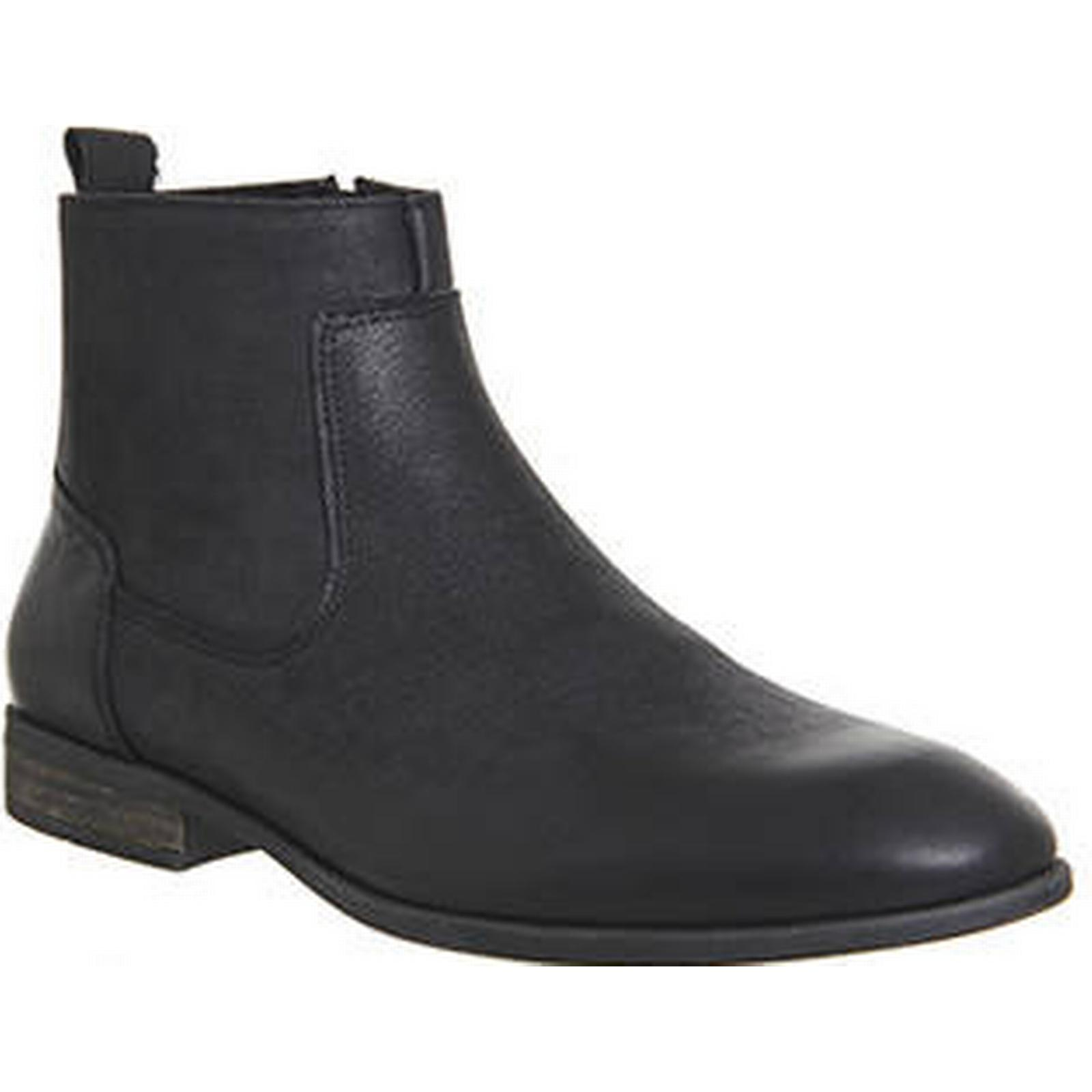 Ask the Missus Envelope WASHED Inside Zip Boot BLACK WASHED Envelope LEATHER be5abe