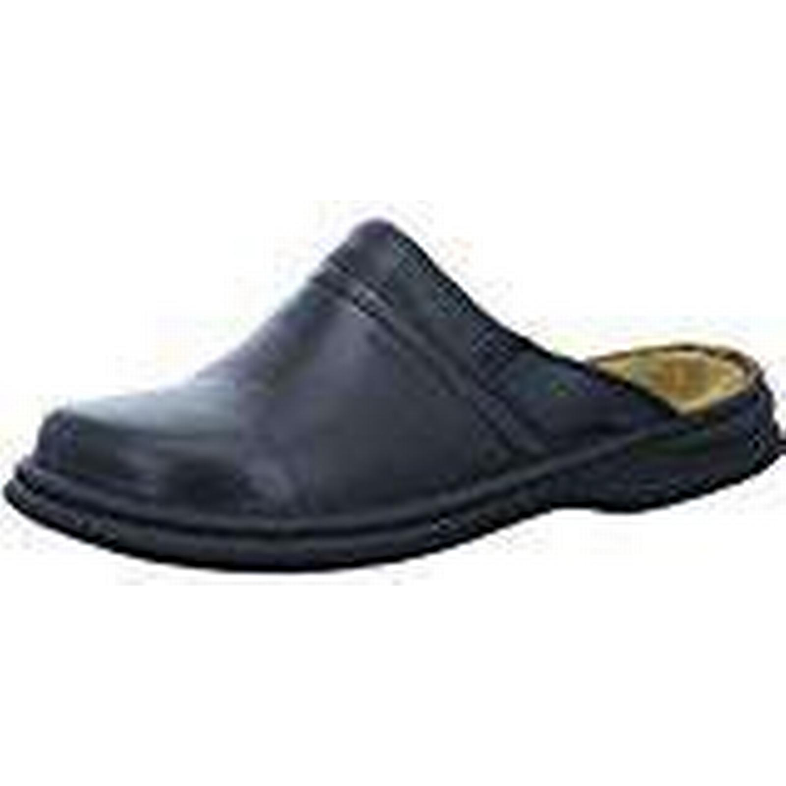 Josef Seibel Leather Max Men Clogs, Genuine Leather Seibel Men's Shoes, Black 13 UK(48 EU) c46378