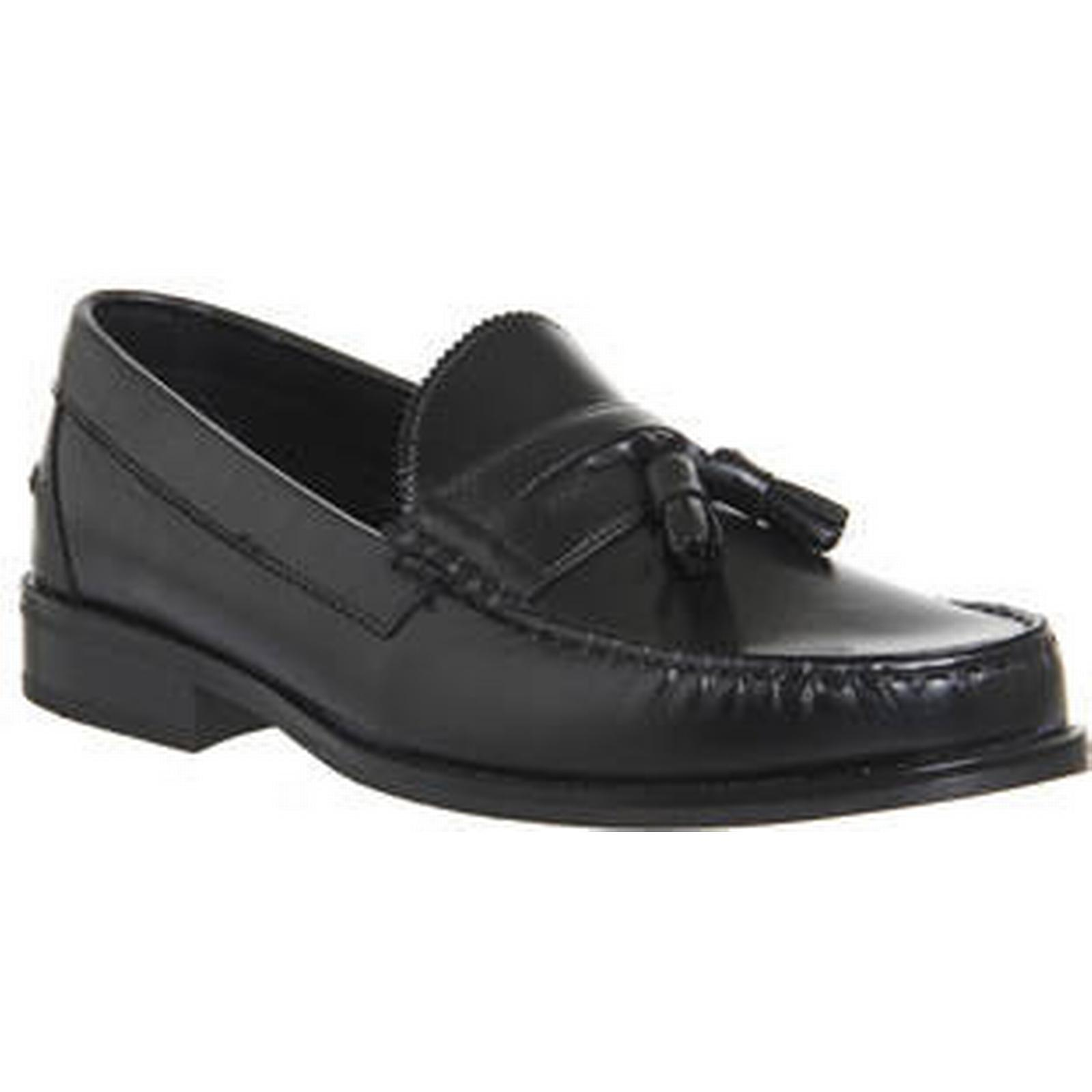 Ask the BLACK Missus Bonjourno Tassle Loafer BLACK the LEATHER BLACK SOLE e65d1d
