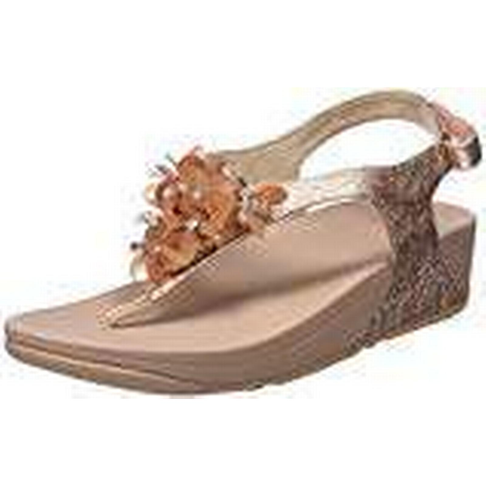 Fitflop Fit Flop Women's Boogaloo Tm Back Strap Sandal Flip, 6.5 Pink (Rose Gold 323), 6.5 Flip, UK 6.5 UK cccfcc