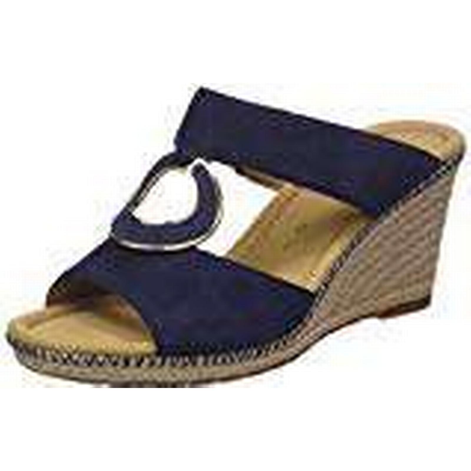 Gabor Shoes Women Comfort Jute/Naht), Sport Mules, Blue (Blue Jute/Naht), Comfort 4.5 UK (37.5 EU) 296ea0