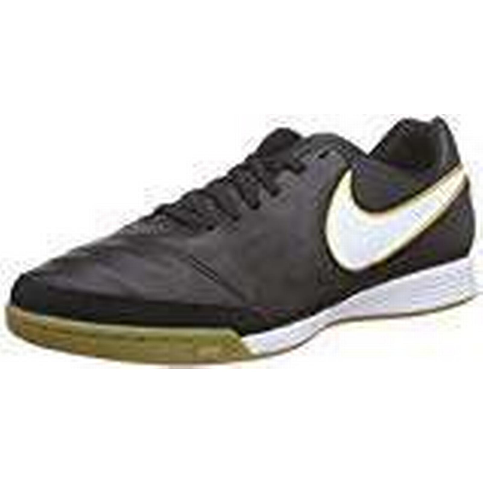 Nike Men's Tiempo Genio II Shoes, Leather IC Football Training Shoes, II Black (Schwarz/Weiß), 7.5 UK 7b8b1d