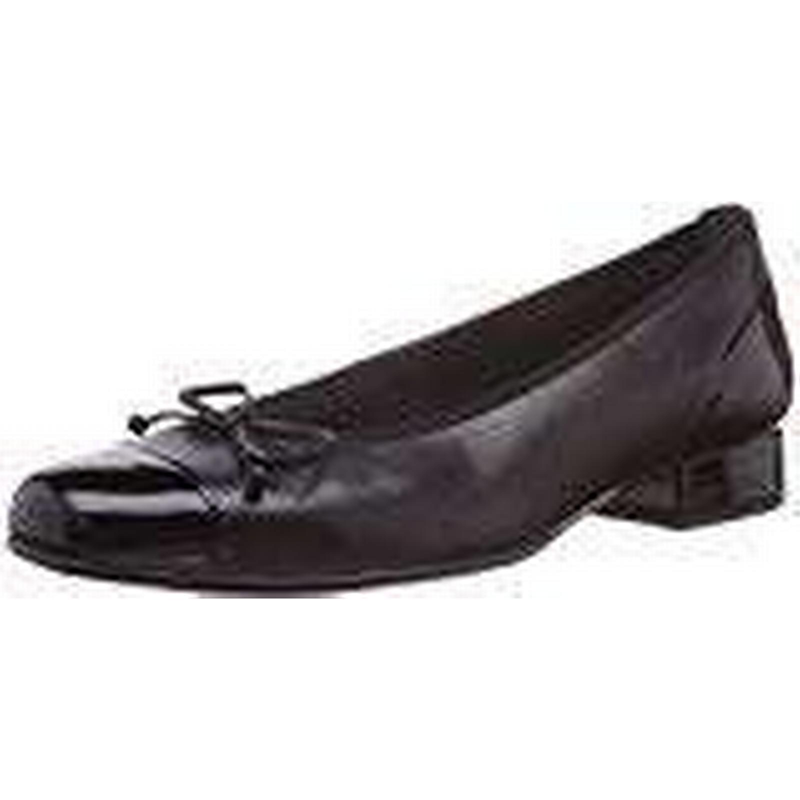 Gabor Flat, Comfort Basic Women Ballet Flat, Gabor Black (Black Leather Ht/Patent), 9 UK 7aac6b