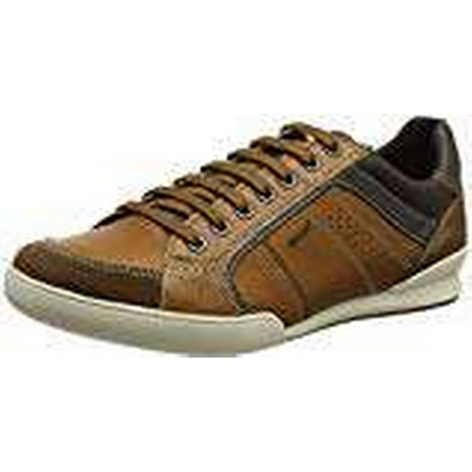 Geox Men''s Sneakers, U Kristof A Low-Top Sneakers, Men''s Brown (Cognac/browncotto), 6 UK 6 UK a68484