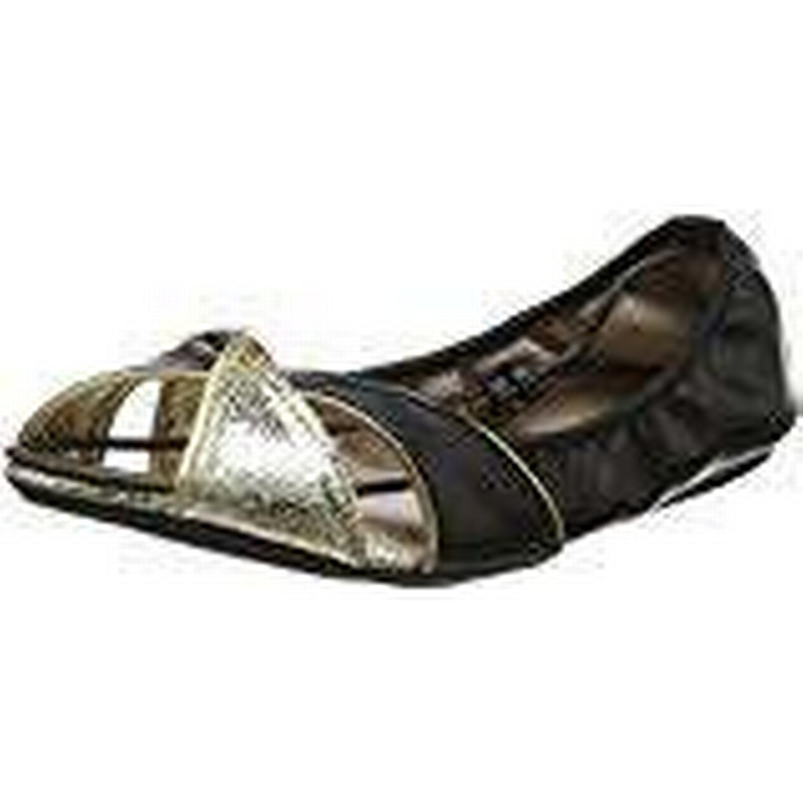 Butterfly Twists Women's Amelia Open Toe Ballet Flats, EU (Black), 7 UK 40 EU Flats, fce494