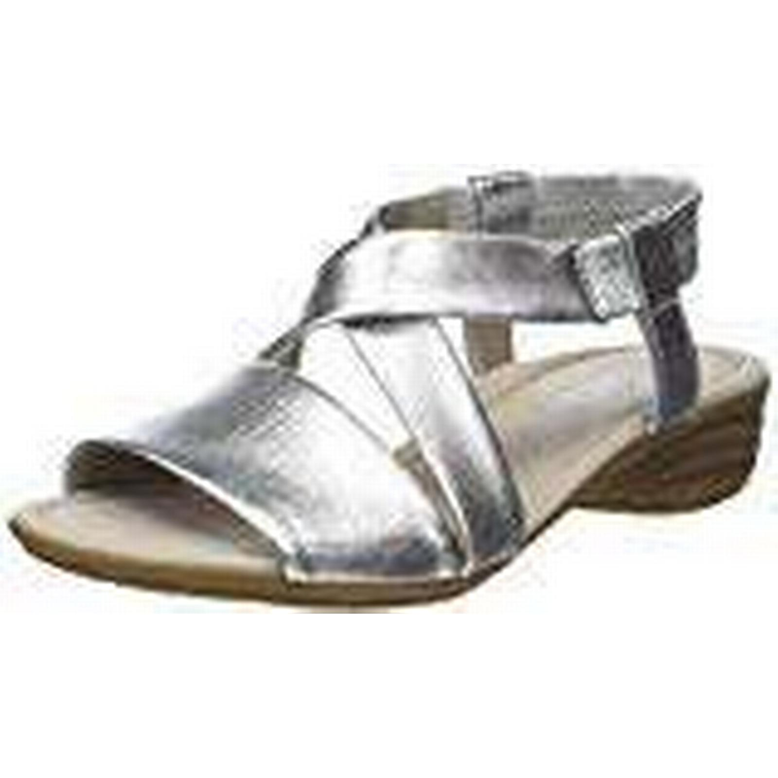 Gabor Women Casual Ankle 3 Strap Sandals, Multicolor (Silber), 3 Ankle UK (35.5 EU) 064a3e