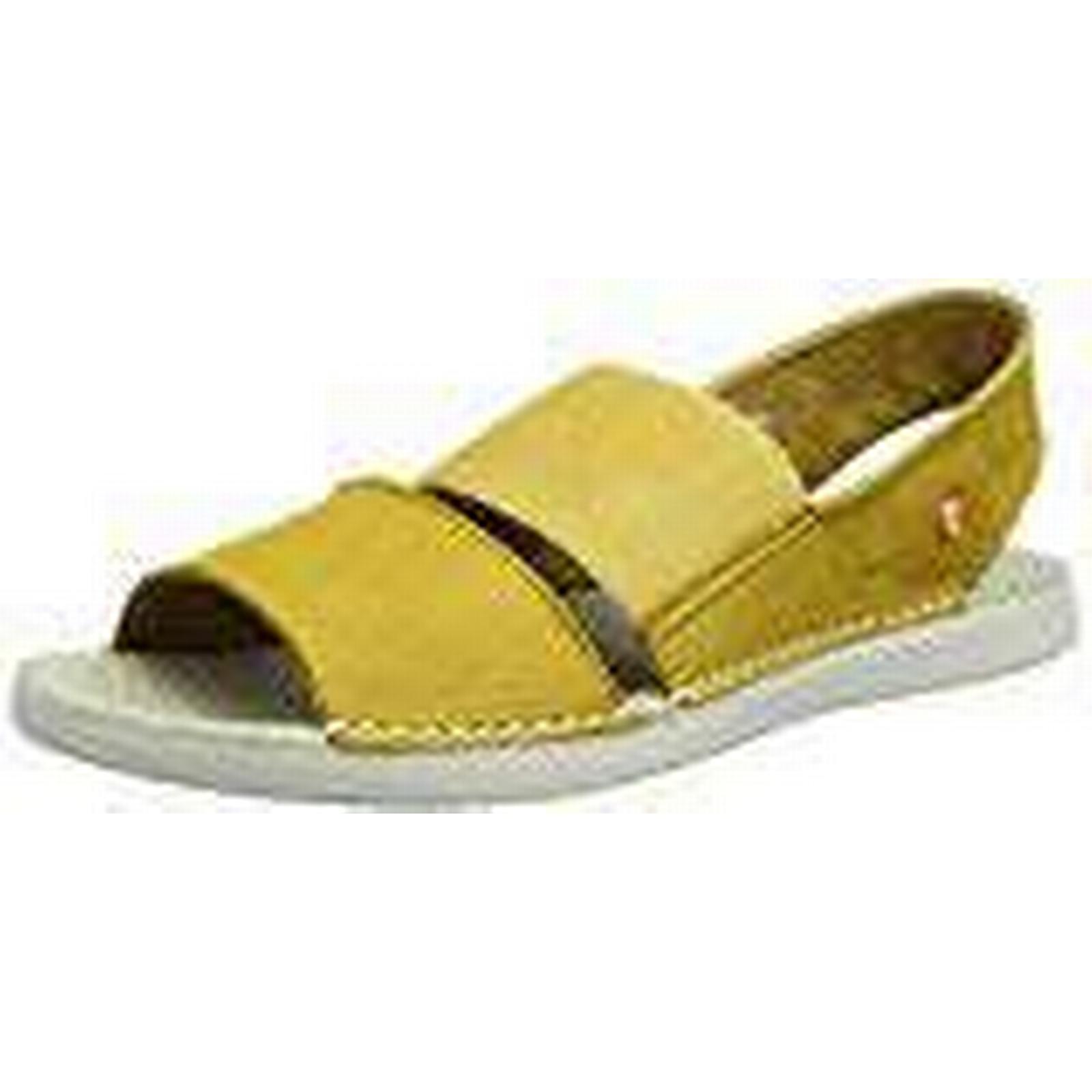 Softinos Women's Tai383Sof Open UK Toe Sandals, (Yellow), 3 UK Open 36 EU d3952f
