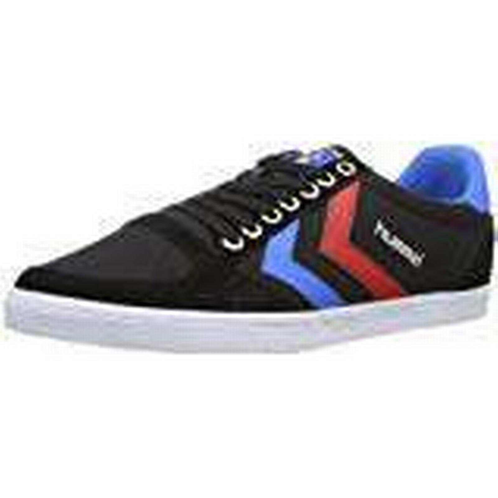 Hummel Unisex Adults Slimmer Stadil (Black/Blue/Red Canvas, Low-Top Sneakers, Black (Black/Blue/Red Stadil 2640), 13 UK (48 EU UK) a3c32e