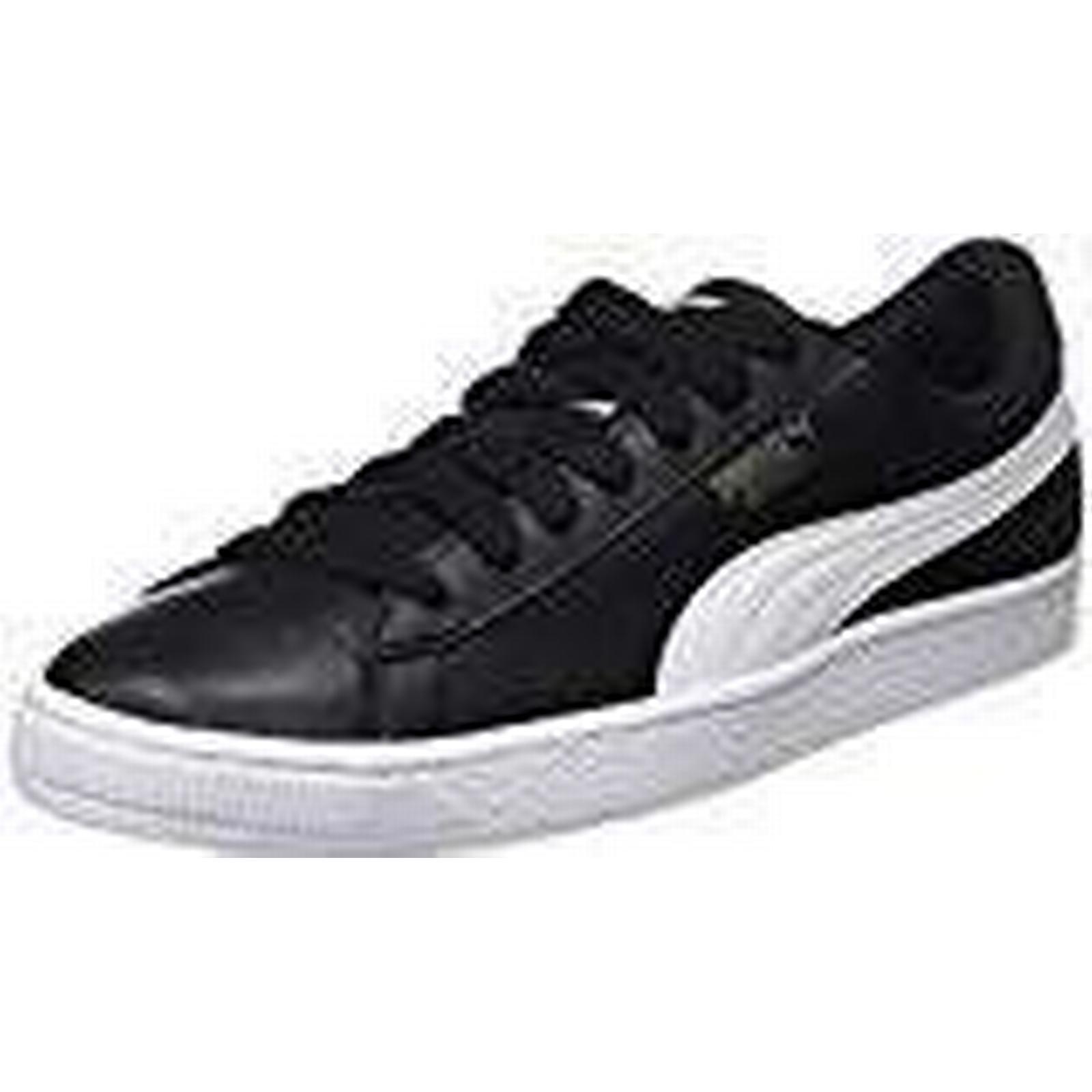 Puma Unisex Adults' black-white, Basket Classic Lfs Low-Top Sneakers, black-white, Adults' 3.5 UK 1f6fc3