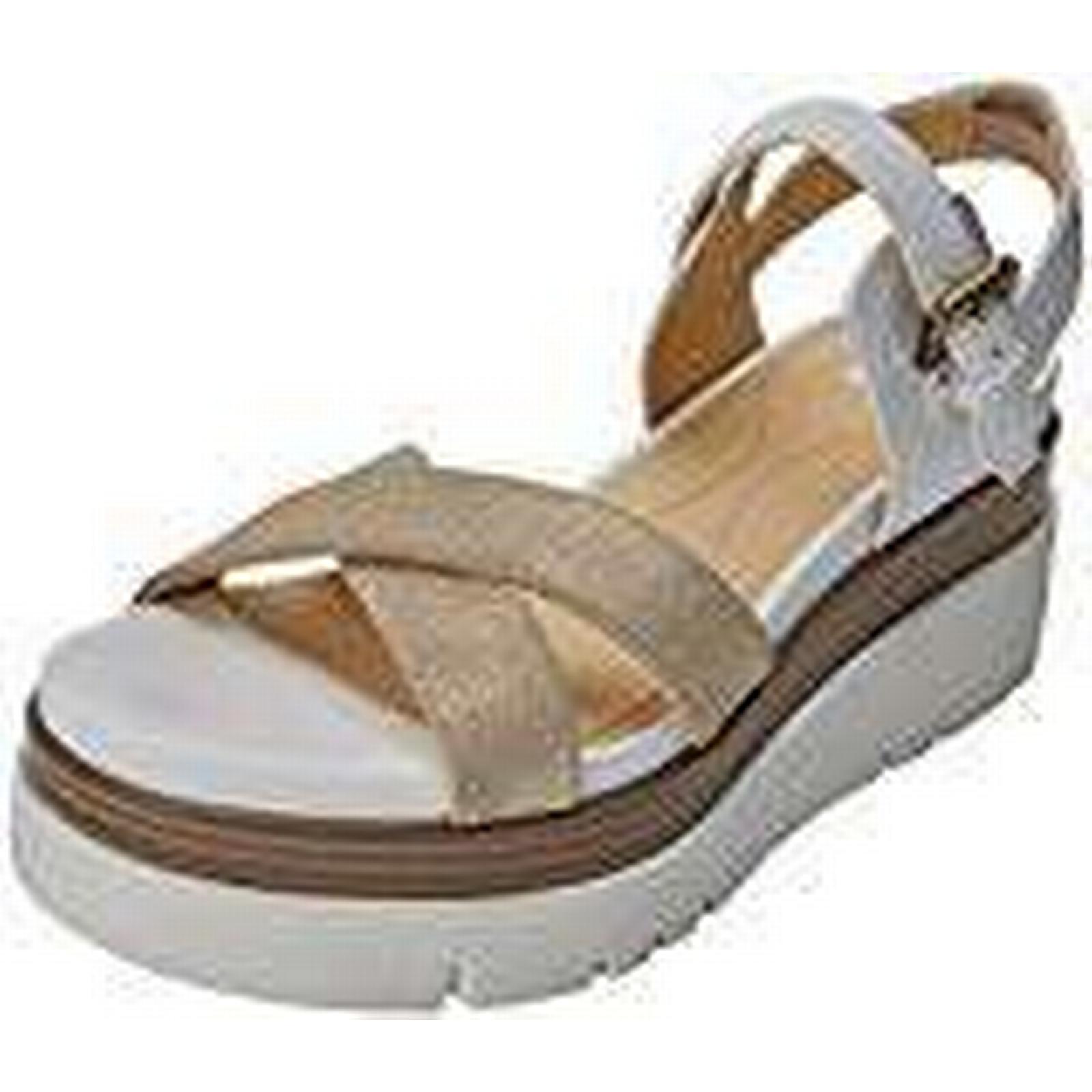 Geox Women's D RADWA C C0917), Platform Sandals, (LT Gold/White C0917), C 5 UK 5 UK 4958ec
