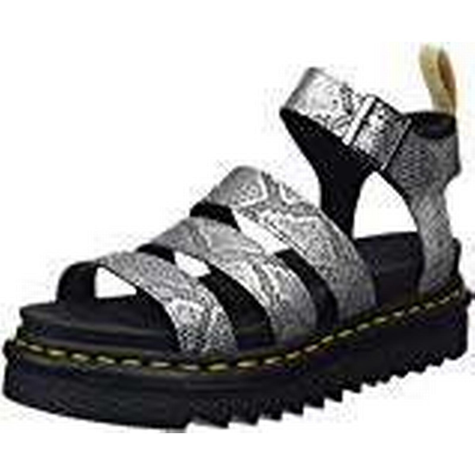 Dr. Martens Women's V (Silver/Black Blaire Open Toe Sandals, (Silver/Black V 040), 8 UK 42 EU a45da3