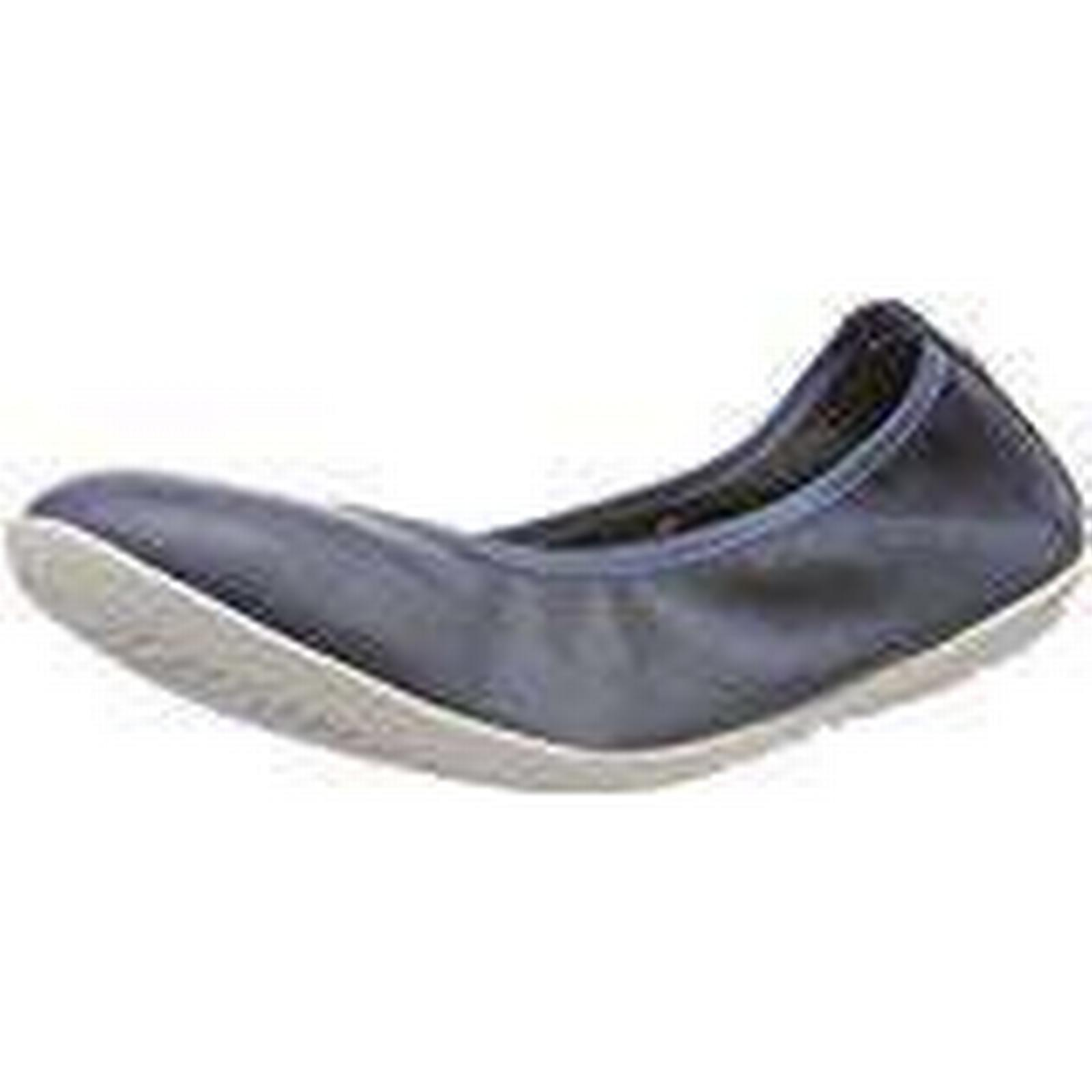 Softinos Women''s OKI451SOF Washed Closed (Navy), Toe Ballet Flats, Blue (Navy), Closed 7 UK 7 UK 769f4f
