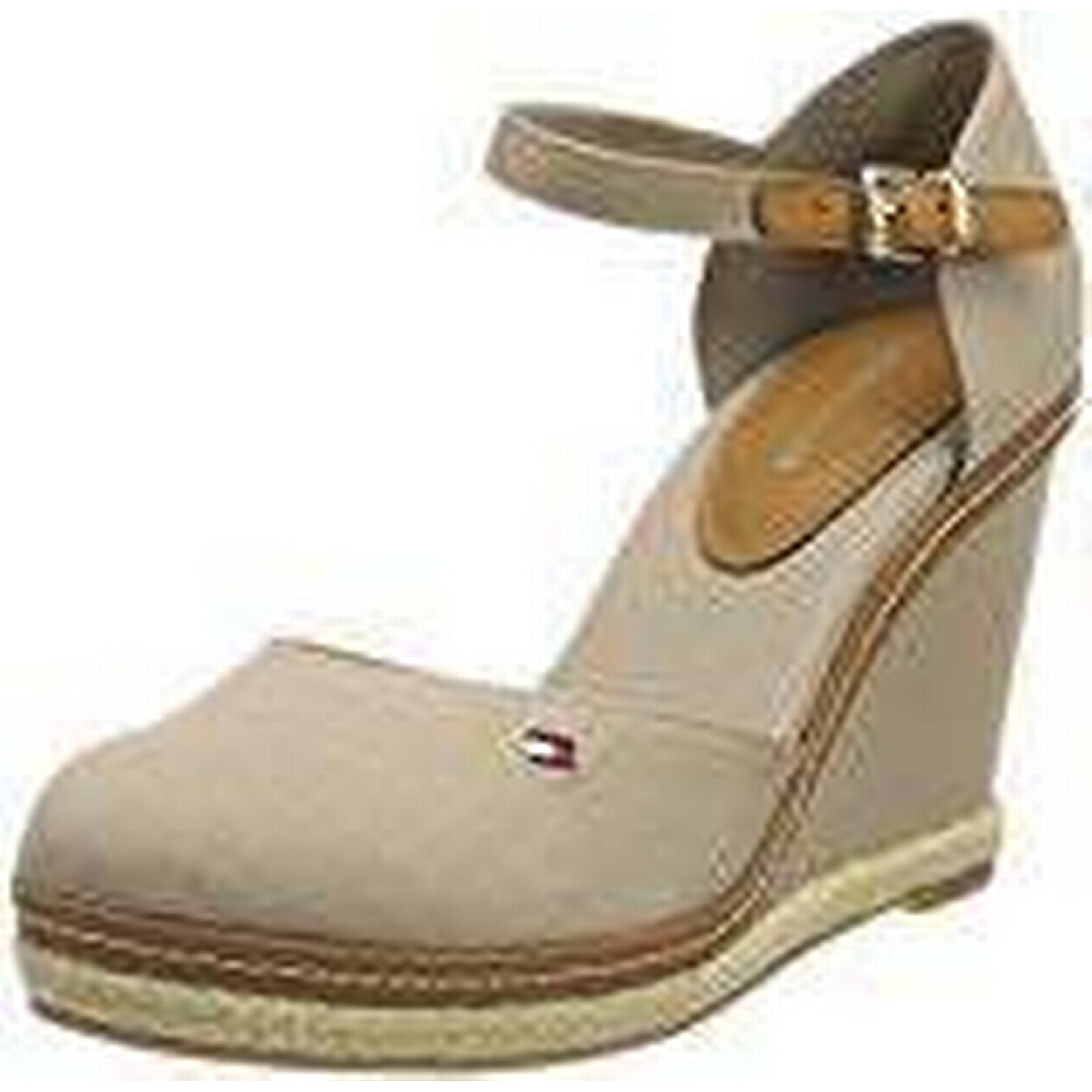 Tommy Hilfiger Toe Women''s Iconic Basic Closed Toe Hilfiger Wedge Espadrilles, Beige (Cobblestone 068), 6.5 UK 6.5 UK c74976