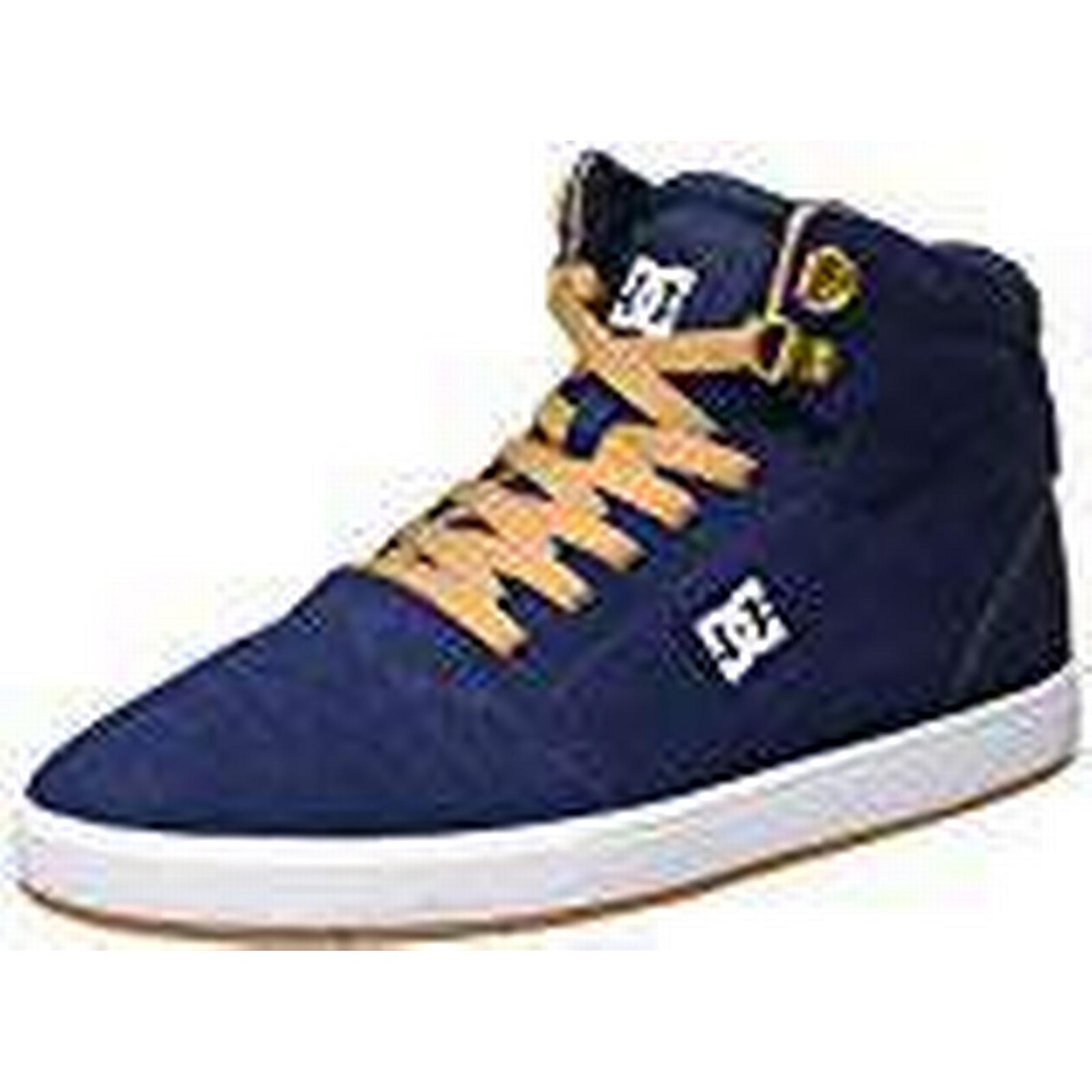 DC Shoes Men's Blue Crisis High Low-Top Sneakers, Blue Men's (Navy/Camel), 7.5 UK 9a3a03