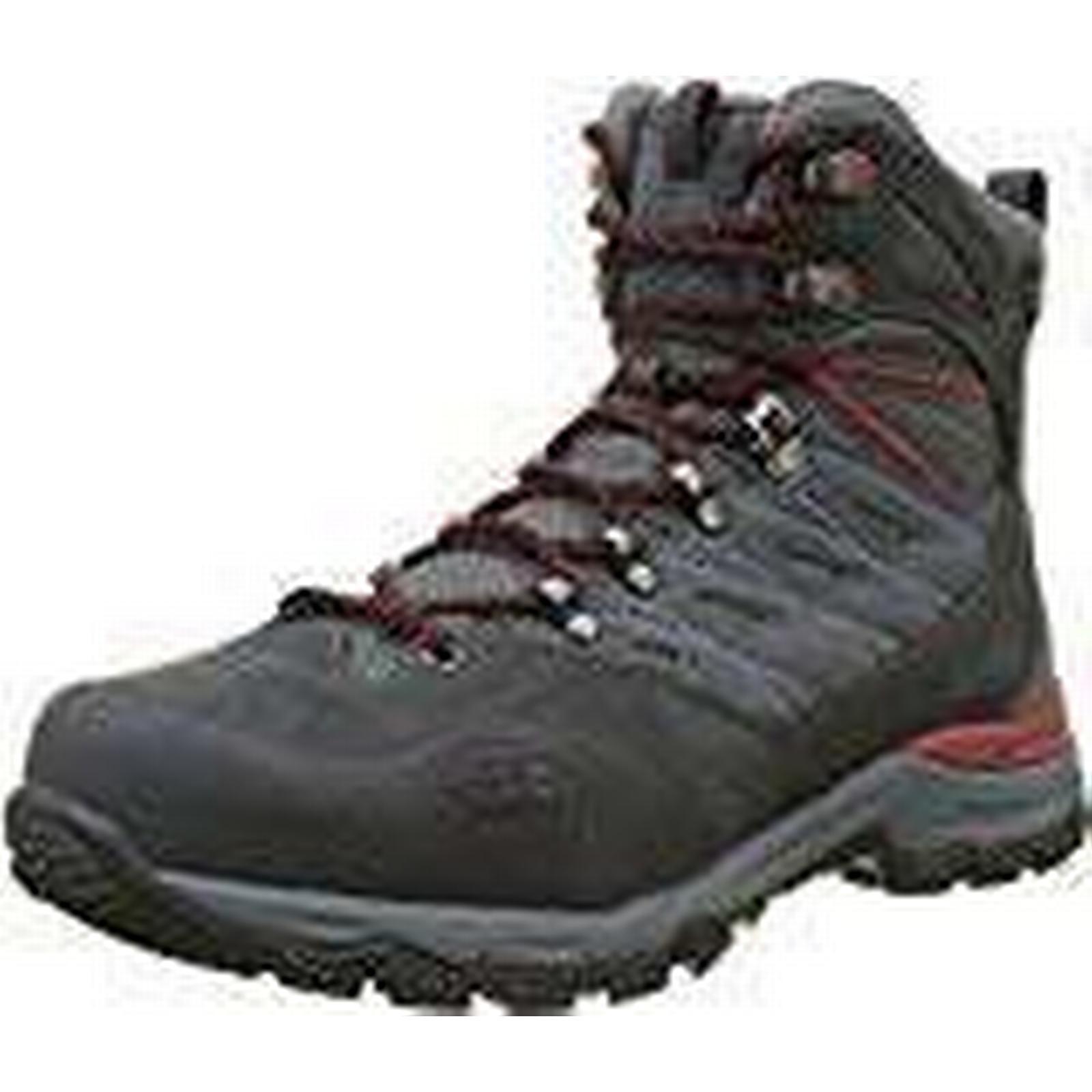 THE NORTH FACE Men's Hedgehog Trek Gore-Tex (Dark High Rise Hiking Boots, (Dark Gore-Tex Shadow Grey/Rudy Red TCP), 10 (44.5 EU) 0d524a