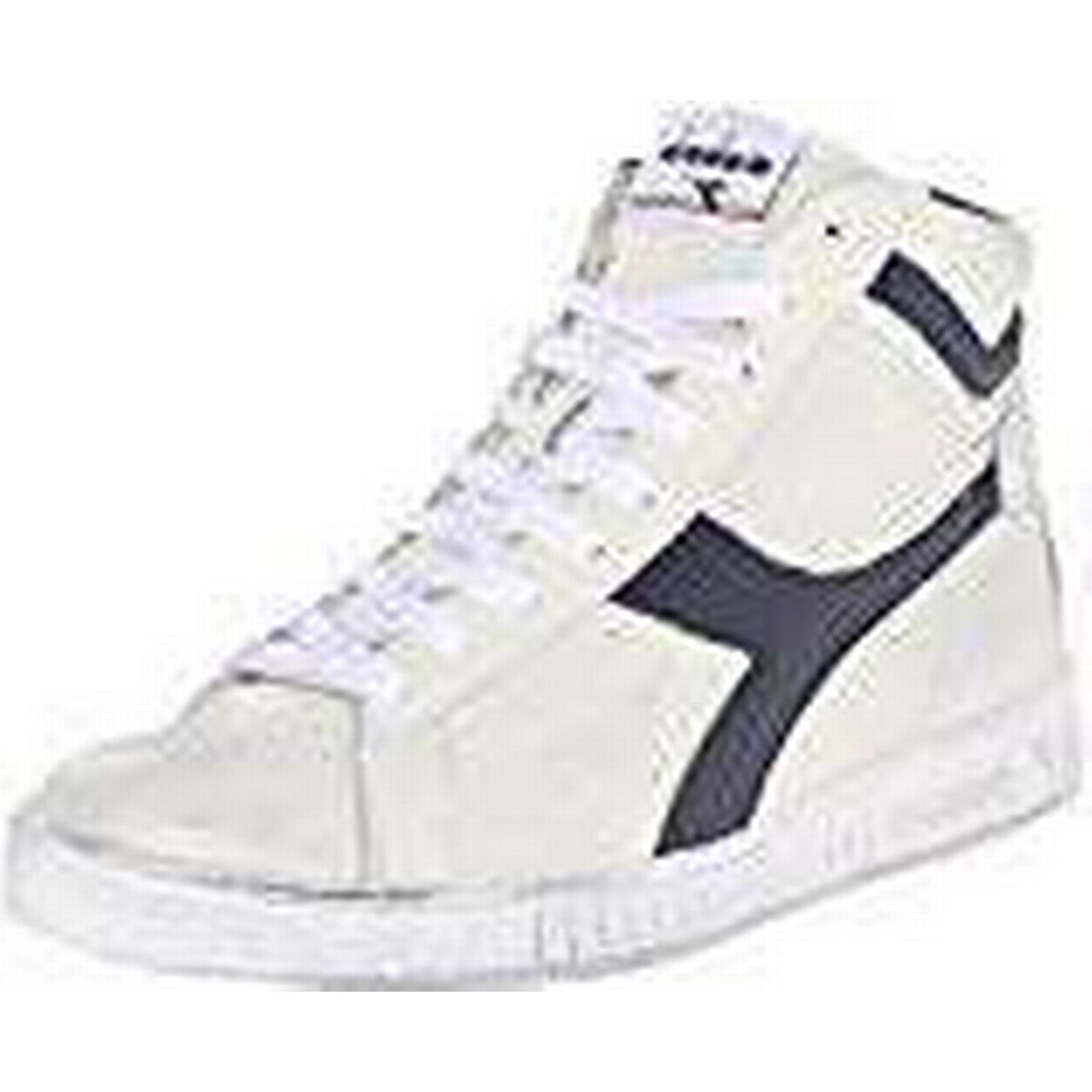 Diadora Unisex Adults' Game L High Waxed Hi-Top Trainers, Multicolour 7 (Bianco/Blu Mar Caspio C5262), 7 Multicolour UK 075571