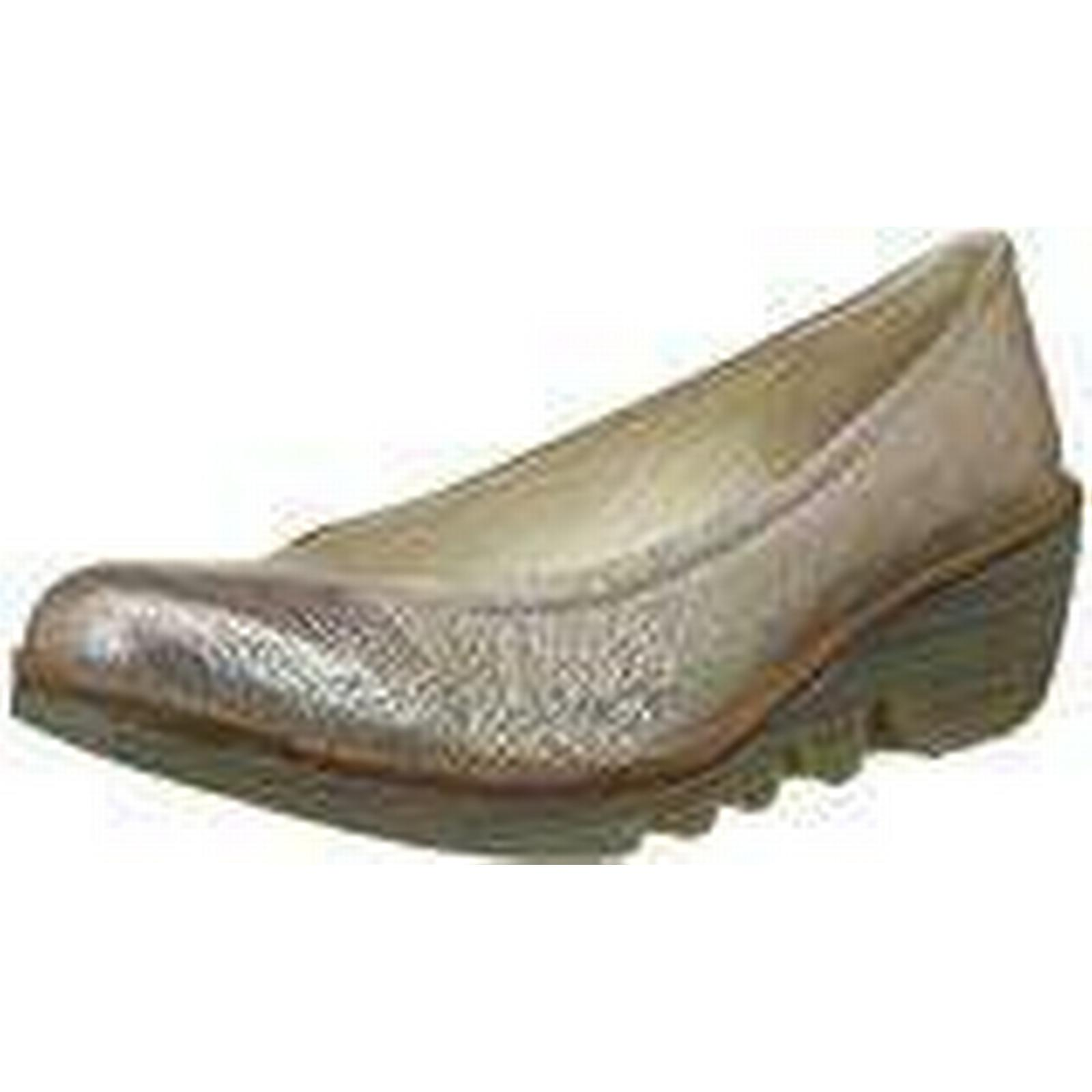 Fly Toe London Women's Pump Closed Toe Fly Heels, Gold (Luna/Camel), 8 UK 41 EU f758c3