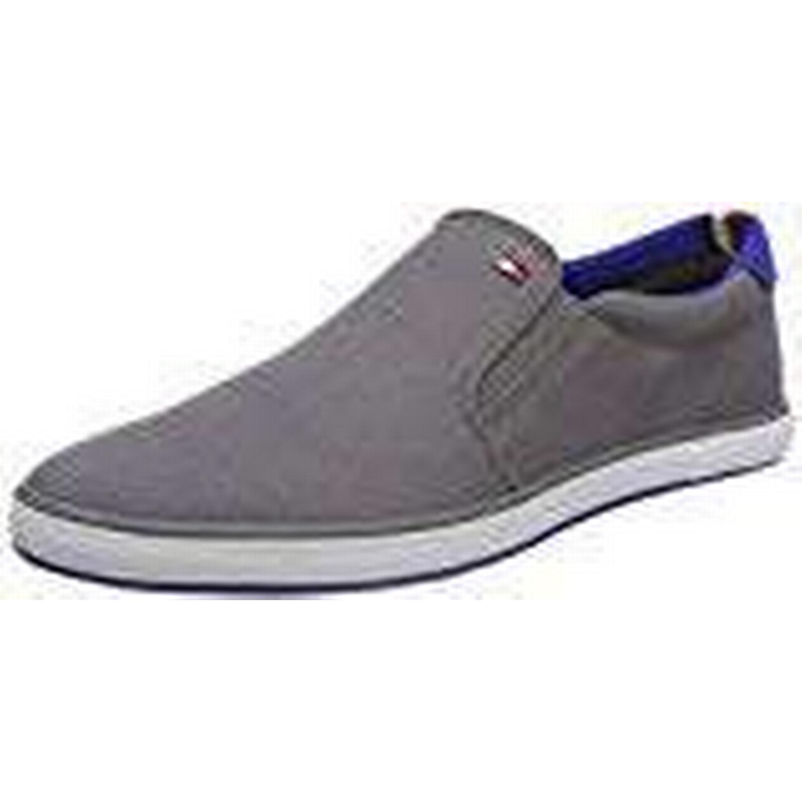Tommy Hilfiger Men''s Iconic Slip Grey On Sneaker Low-Top (Steel Grey Slip 039), 10 UK 10 UK 79c83b