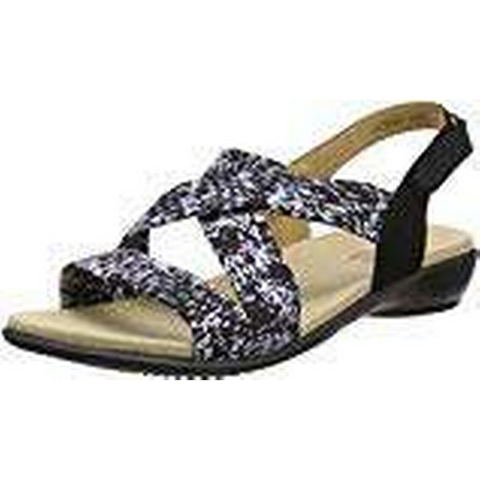 Hotter Women''s Fleck), Shimmer Open-Toe Sandals, (Black Fleck), Women''s 6 UK 39 EU 04fffc