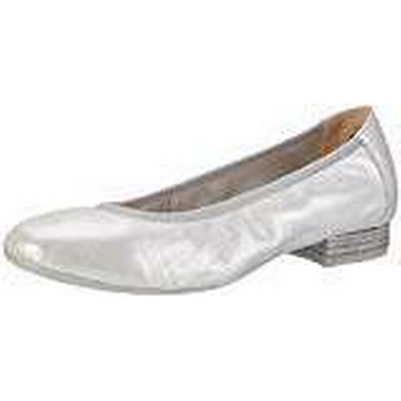 CAPRICE Women''s 22160 Ballet Flats, UK (Silver Metal.), 5 UK Flats, 38a109