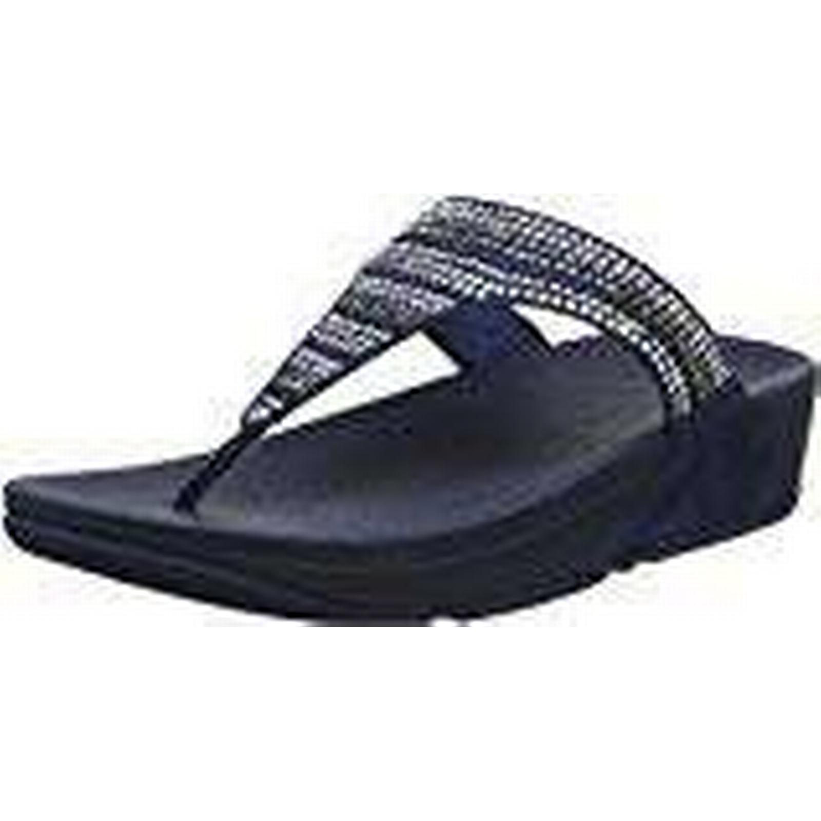 Fitflop Women's Strobe Luxe Toe-Thong Navy), Sandals Open, Blue (Midnight Navy), Toe-Thong 7 UK 41 EU 4bc403