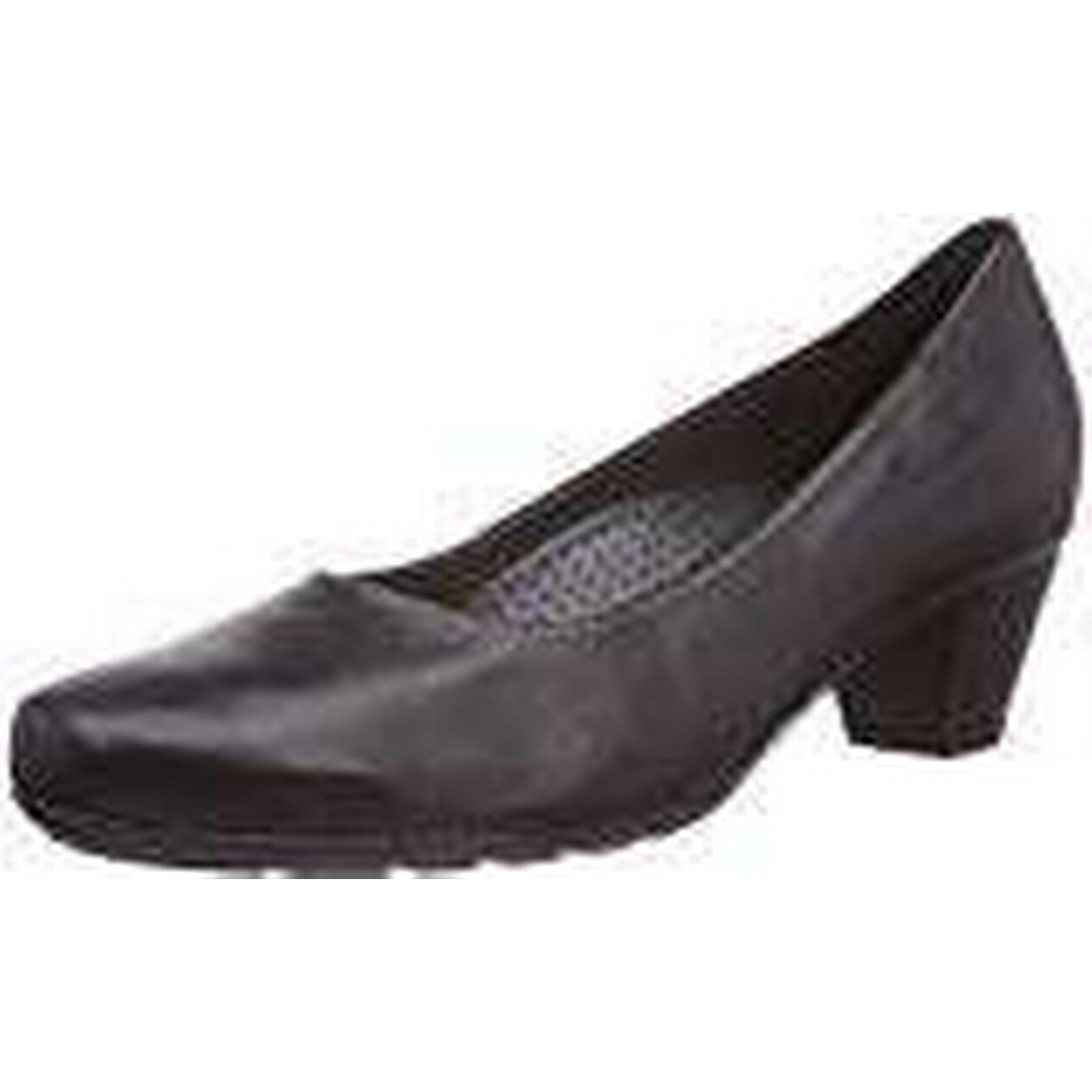 Gabor, Women's, Brambling, Closed-Toe Pumps Leather), & Heels, Black (Black Leather), Pumps 42.5 EU c3a883